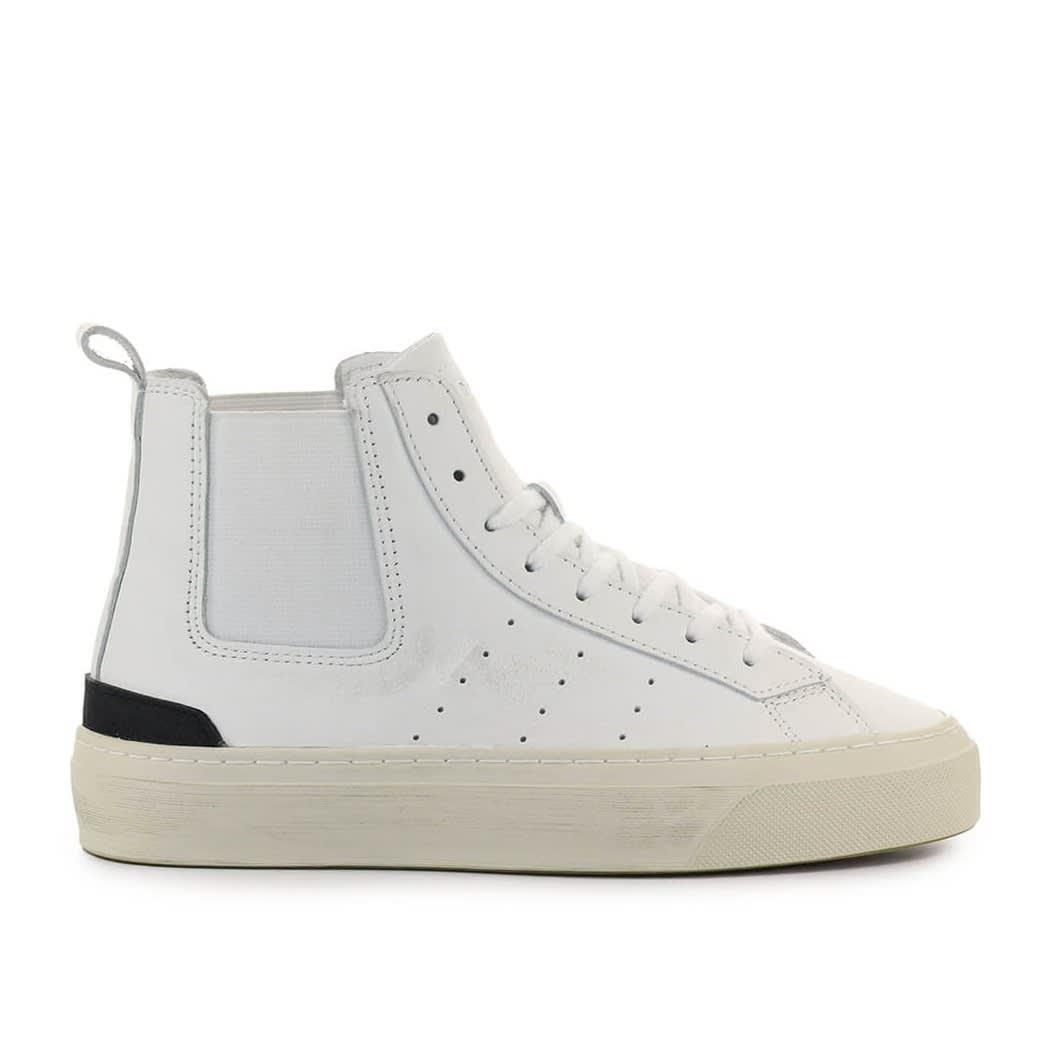 Sonica High Calf White Sneaker