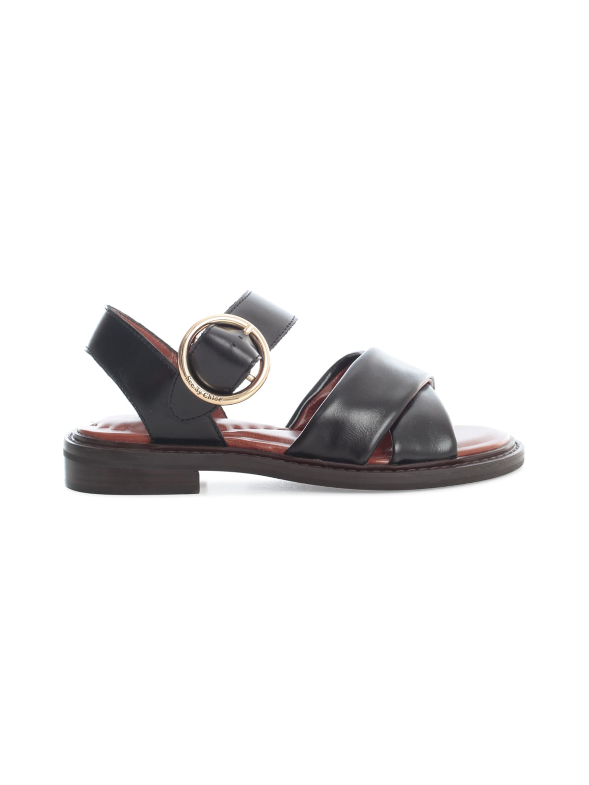 See By Chloé LYNA 20MM SANDALS W/BUCKLE ON ANKLE