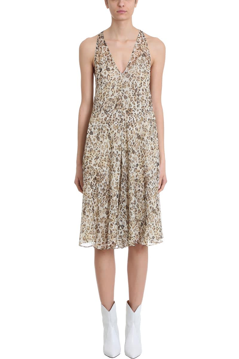 Photo of  IRO Sky Leopard Print Silk Dress- shop IRO  online sales
