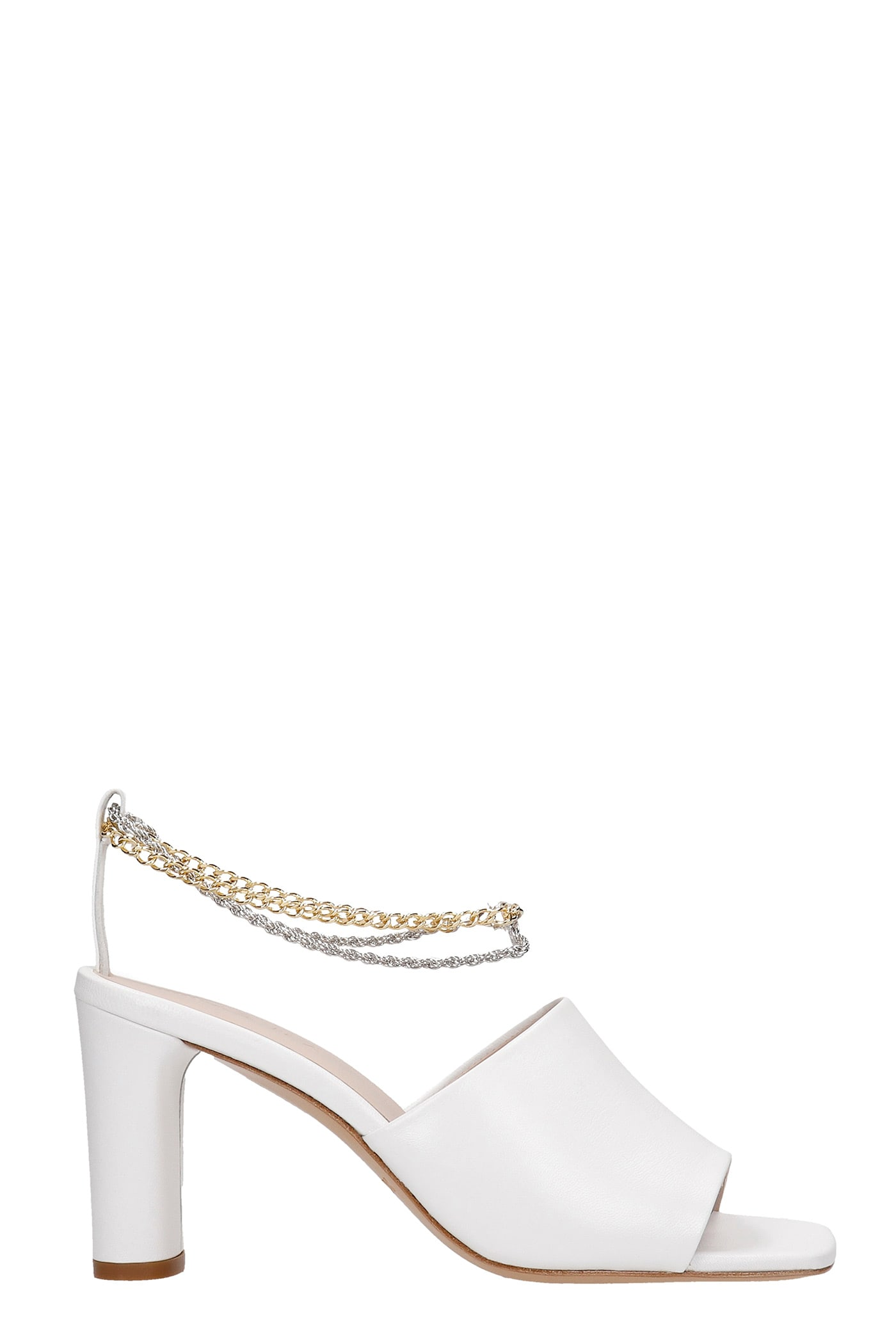 Inez Sandals In White Leather
