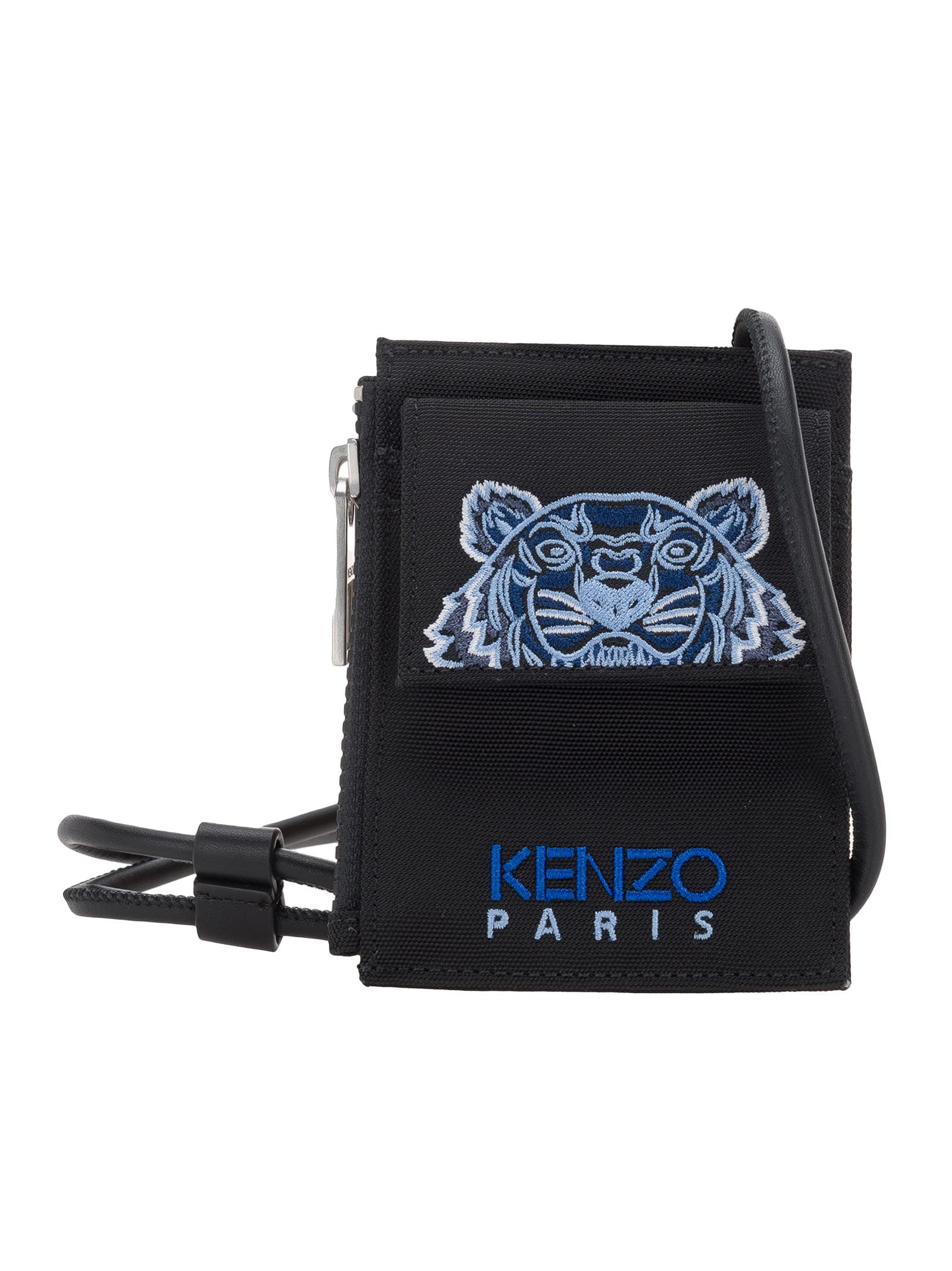 Kenzo Cardholders CANVAS KAMPUS TIGER CARD HOLDER WITH LONG STRAP