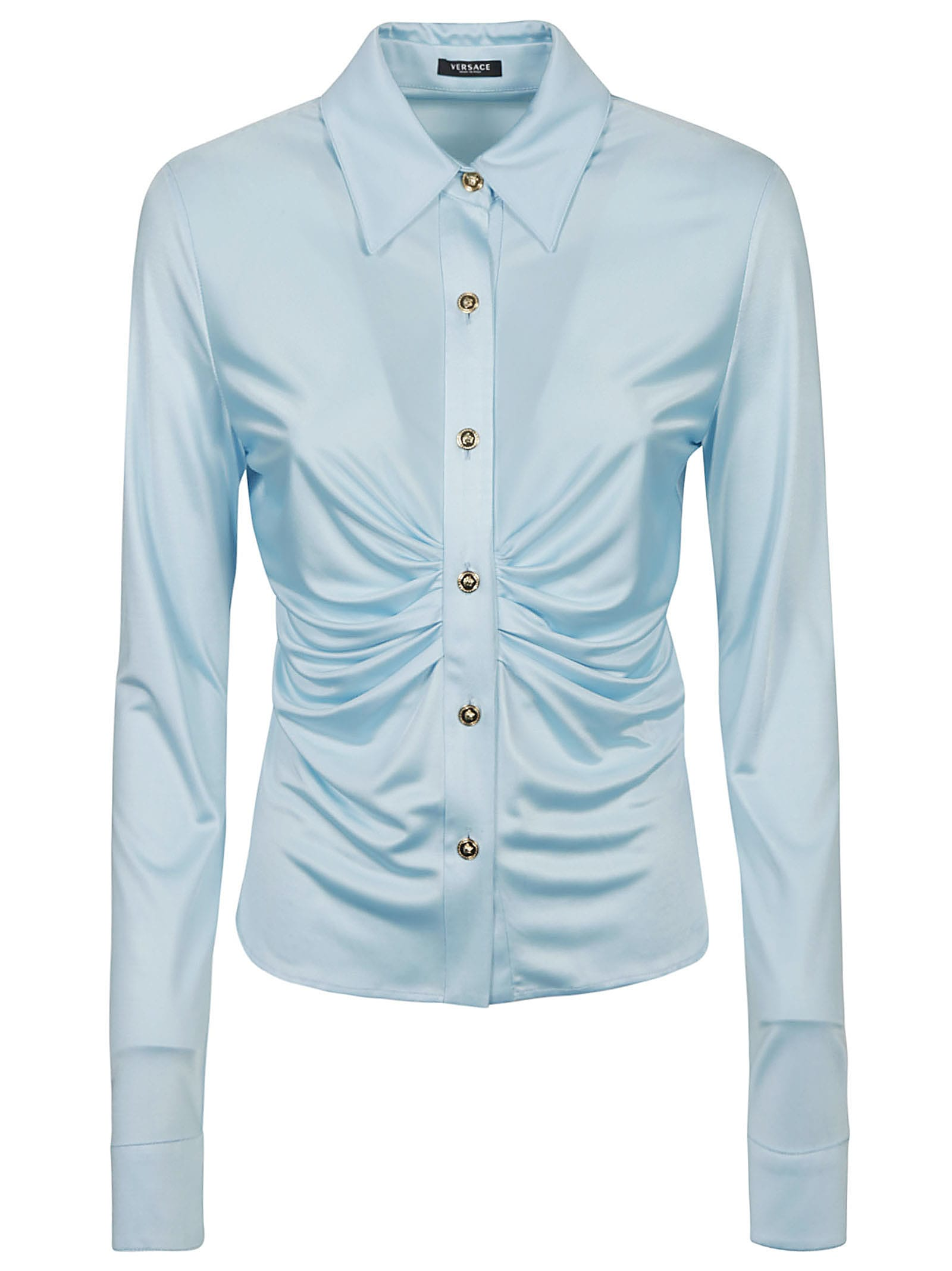 Versace GATHERED FRONT PLAIN SHIRT