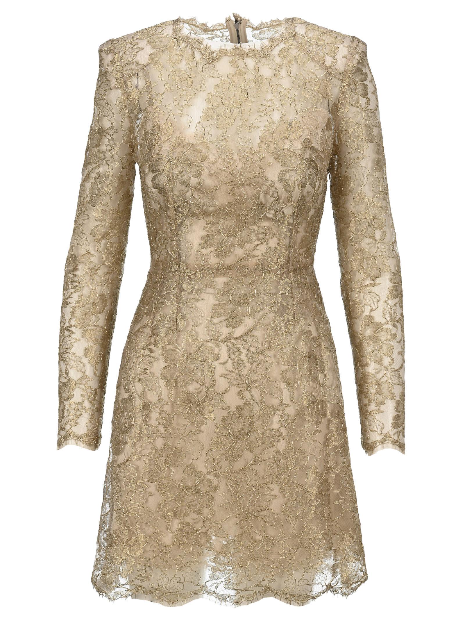 Buy Dolce & Gabbana Dolce & gabbana Floral Lace Dress online, shop Dolce & Gabbana with free shipping