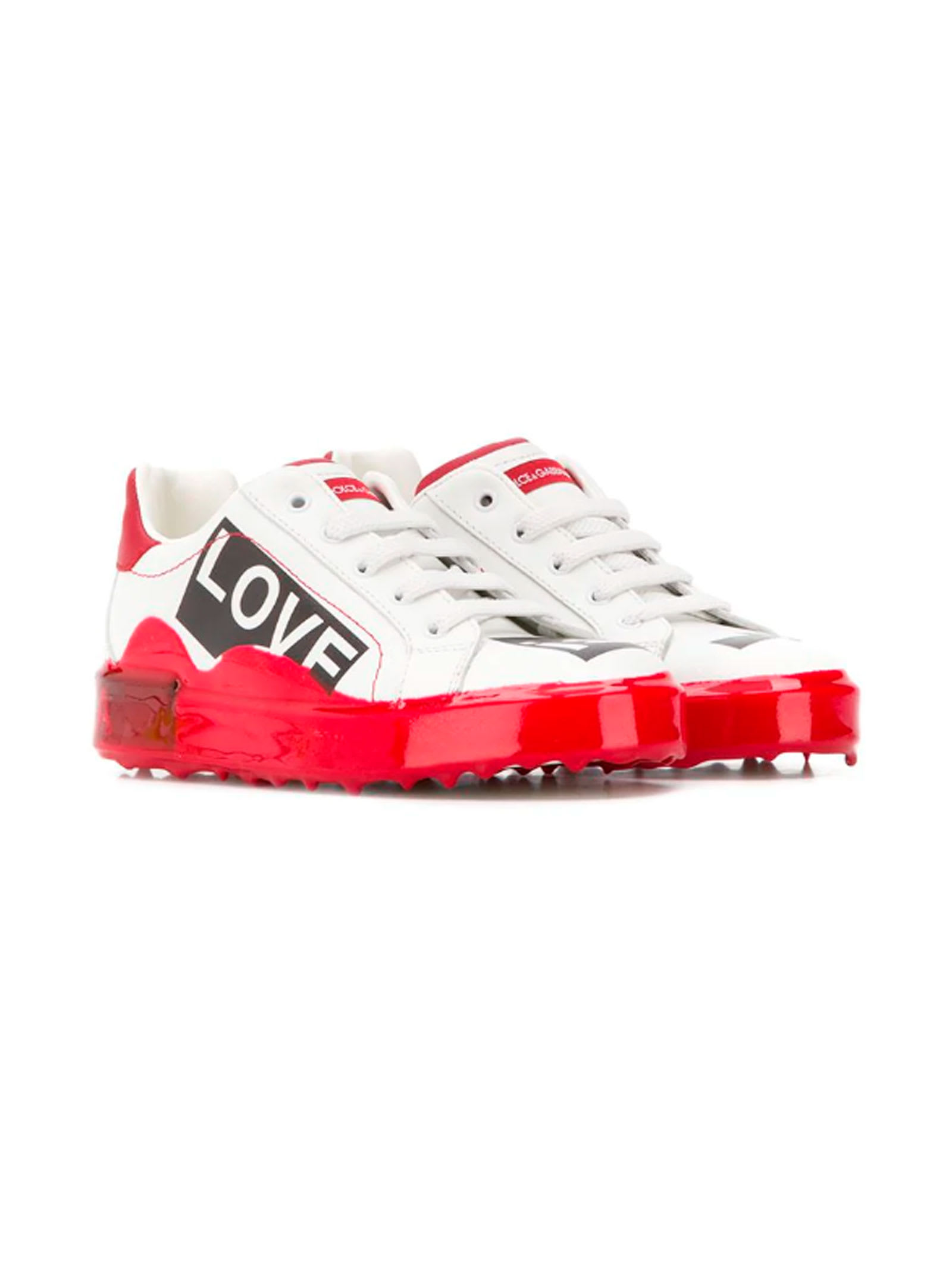 huge selection of 97134 ebef9 Best price on the market at italist | Dolce & Gabbana Dolce & Gabbana White  Baby Sneakers Dolce E Gabbana Kids