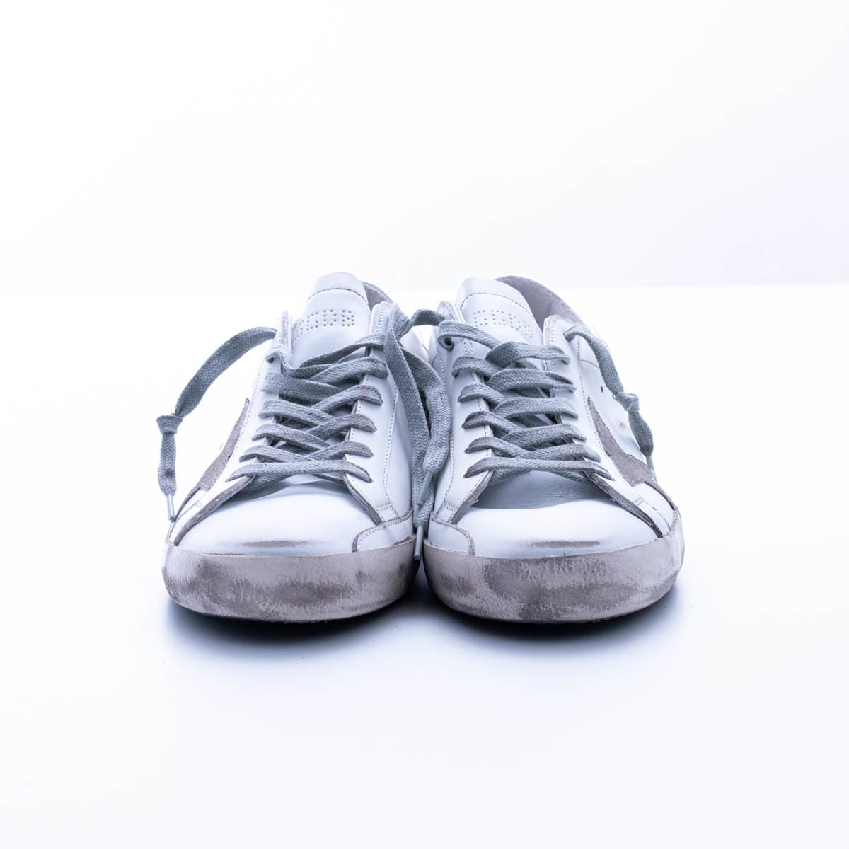 Golden Goose Super-star With Spur Sneaker In White - Ice - Silver