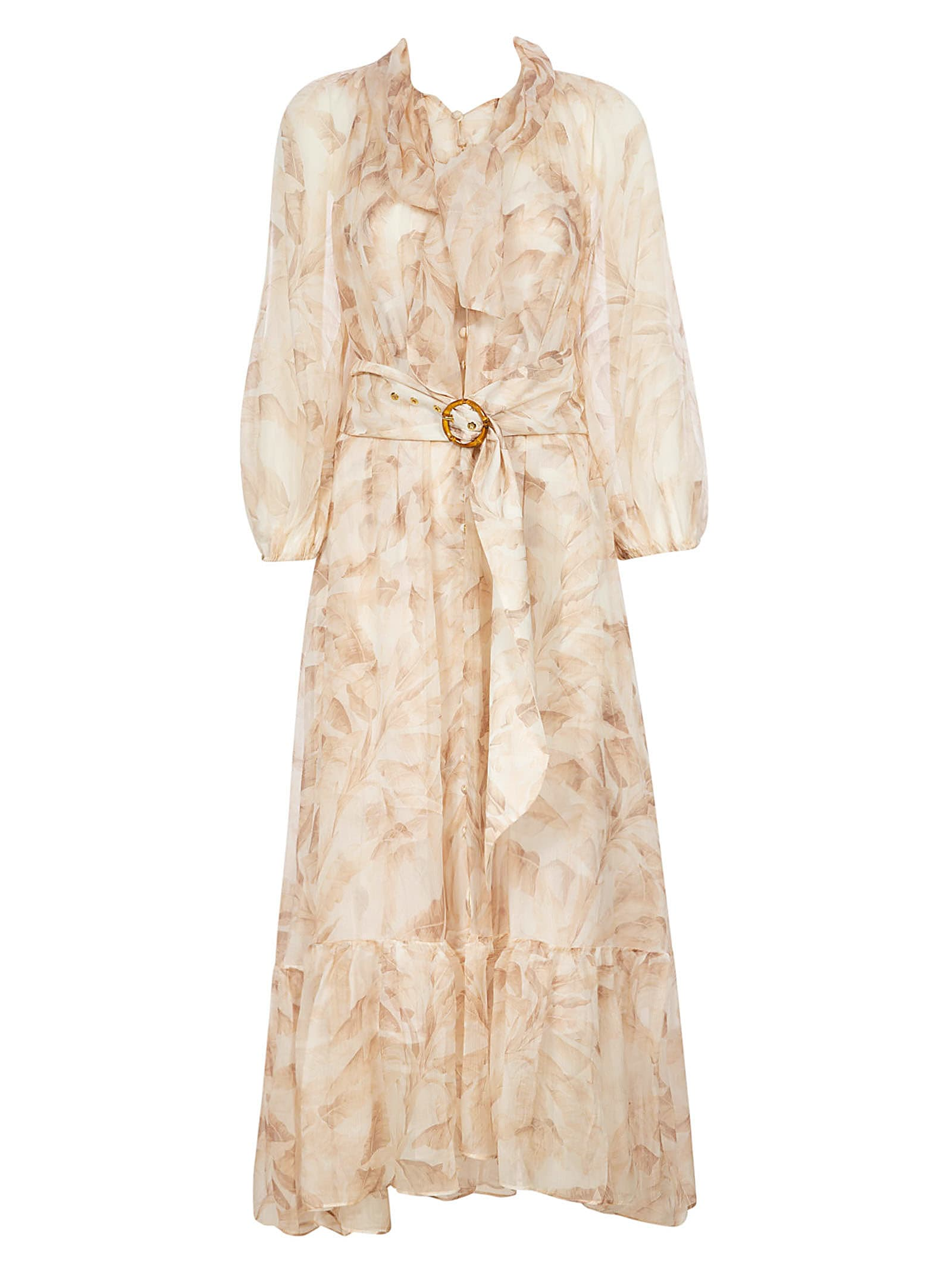 Buy Zimmermann Super Eight Tie Midi Dress online, shop Zimmermann with free shipping
