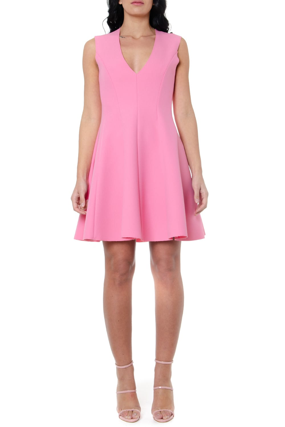 Buy MSGM Pink Wide Skirt Dress online, shop MSGM with free shipping