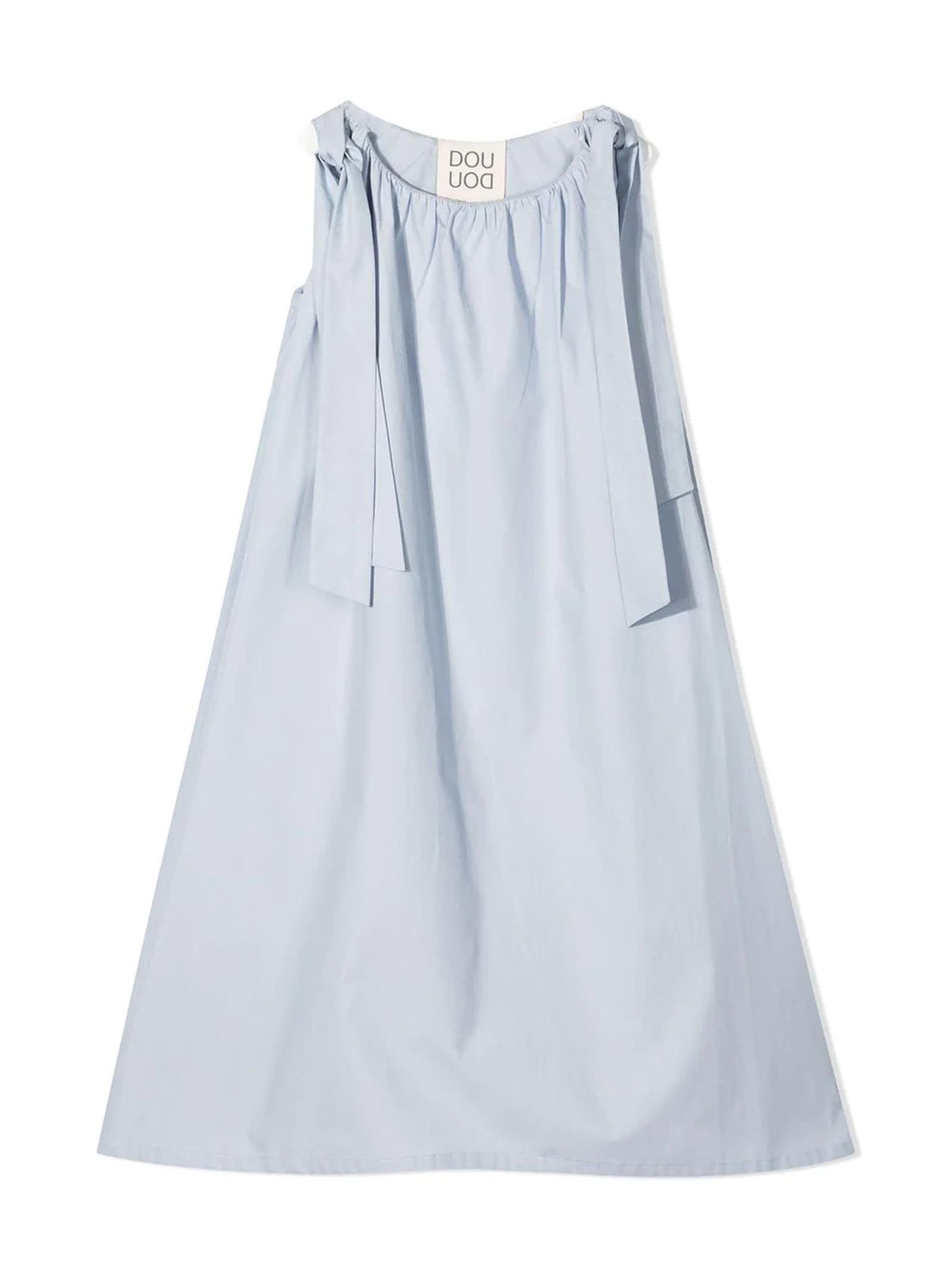 Sky-blue Cotton Dress