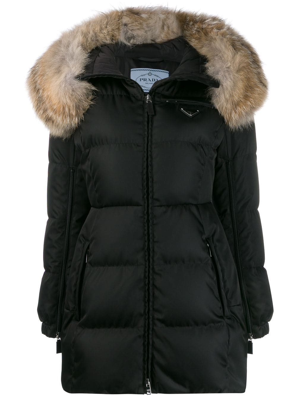Prada Down Jacket Nylon/fur