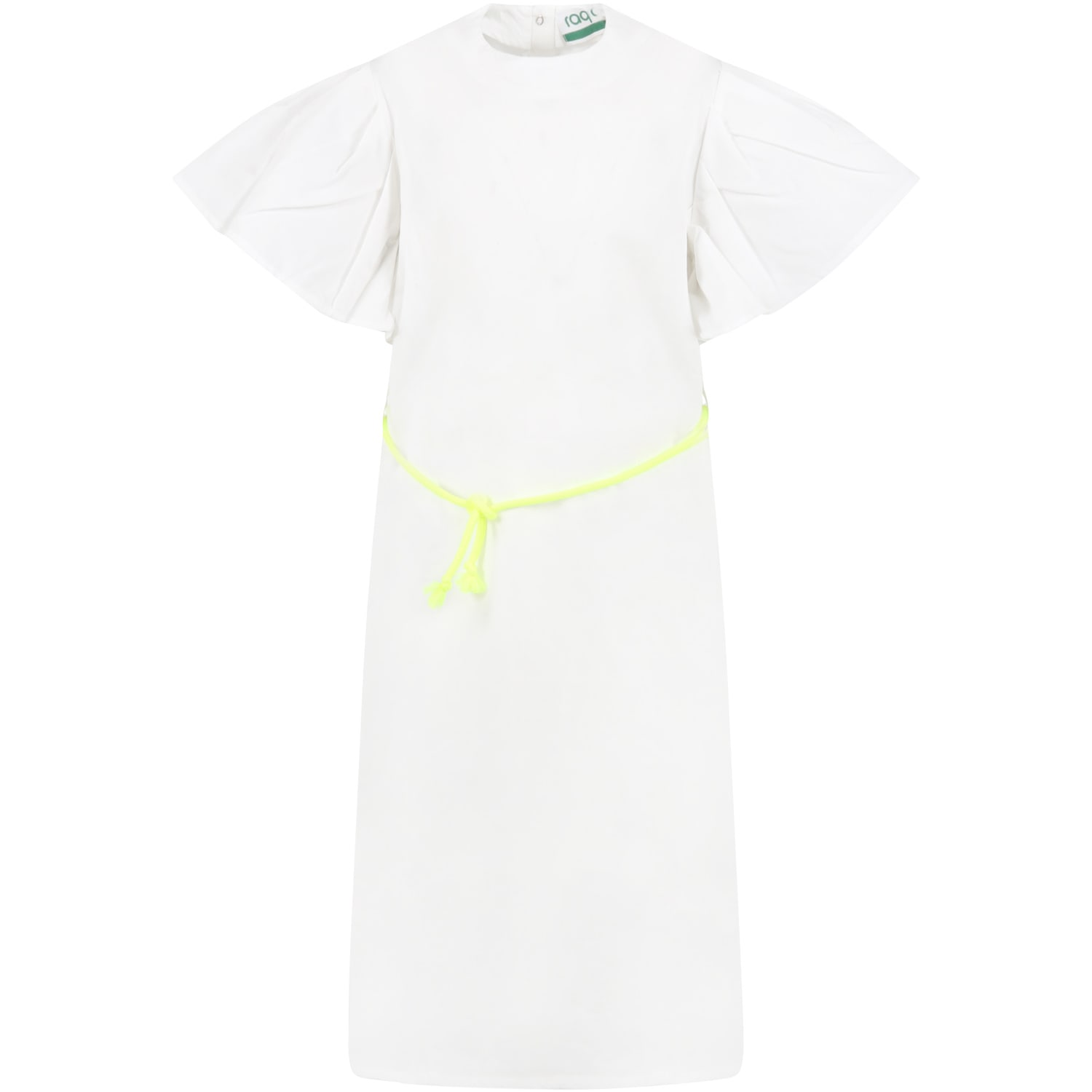 Buy Raquette White Dress For Girl With Logo online, shop Raquette with free shipping