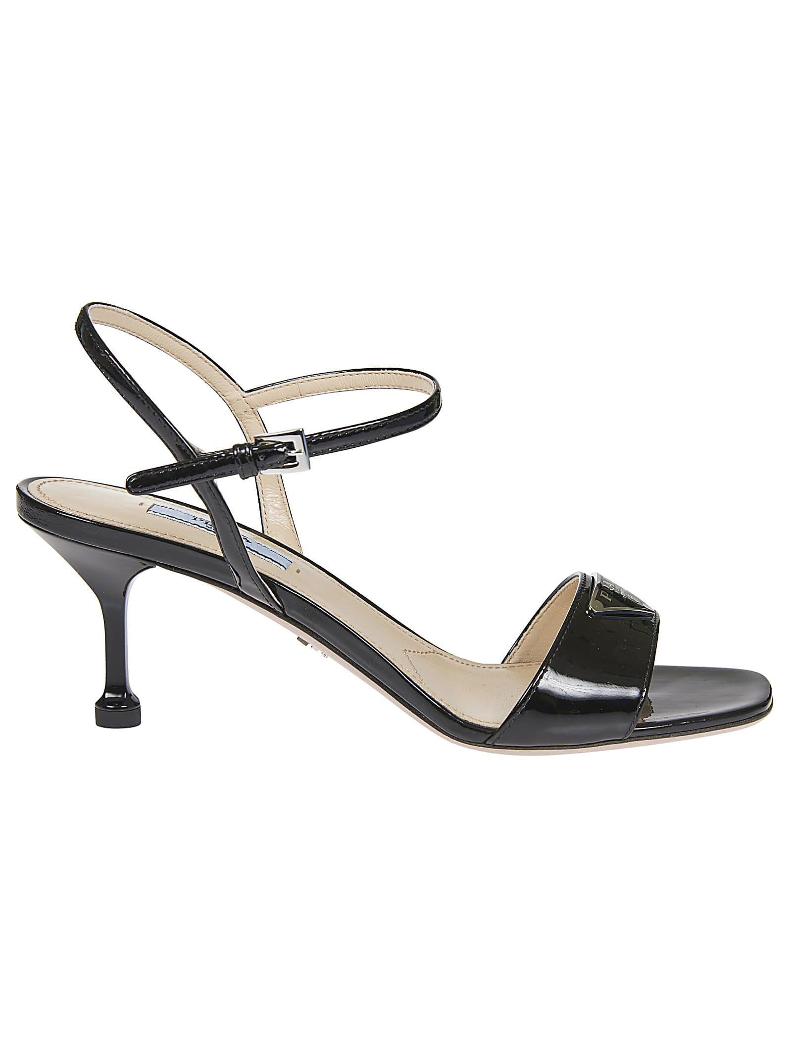 Buy Prada Vernice Sandals online, shop Prada shoes with free shipping