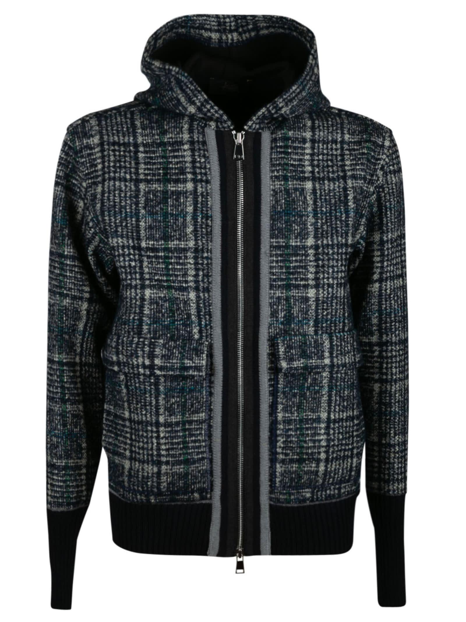 Check Hooded Zip Jacket