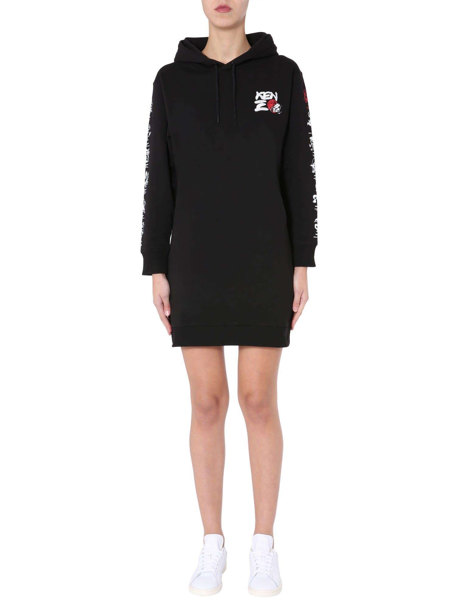 Buy Kenzo Kung Fu Rat Sweatshirt Dress online, shop Kenzo with free shipping