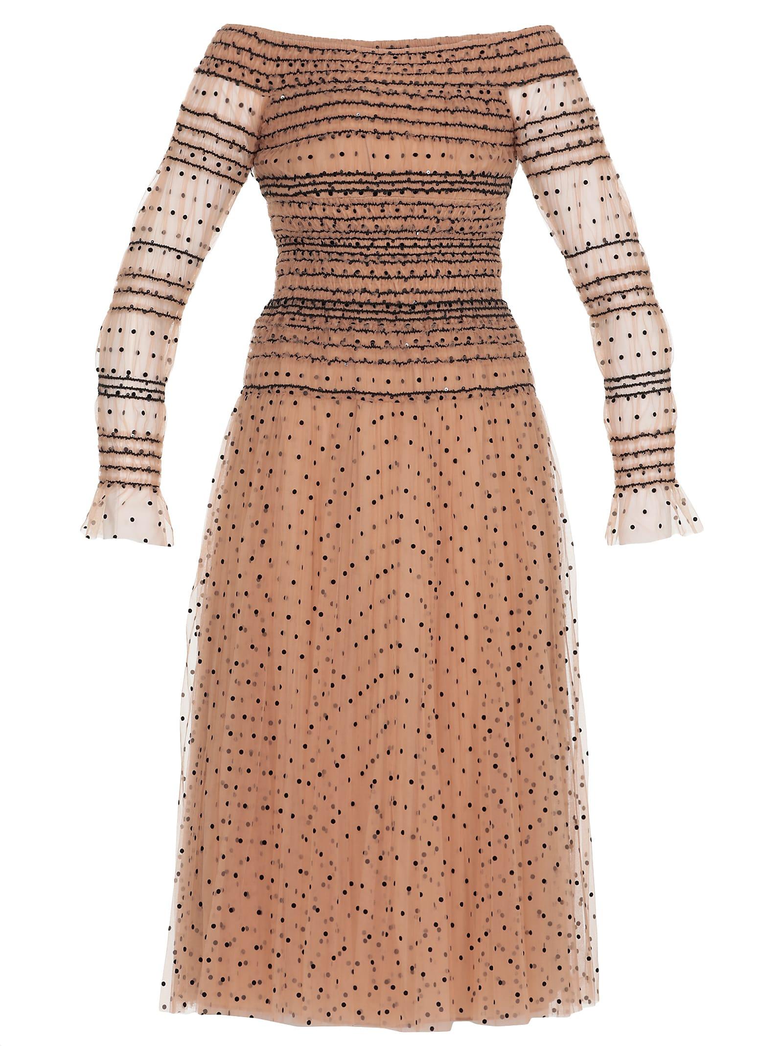 Buy self-portrait Dot Dress online, shop self-portrait with free shipping