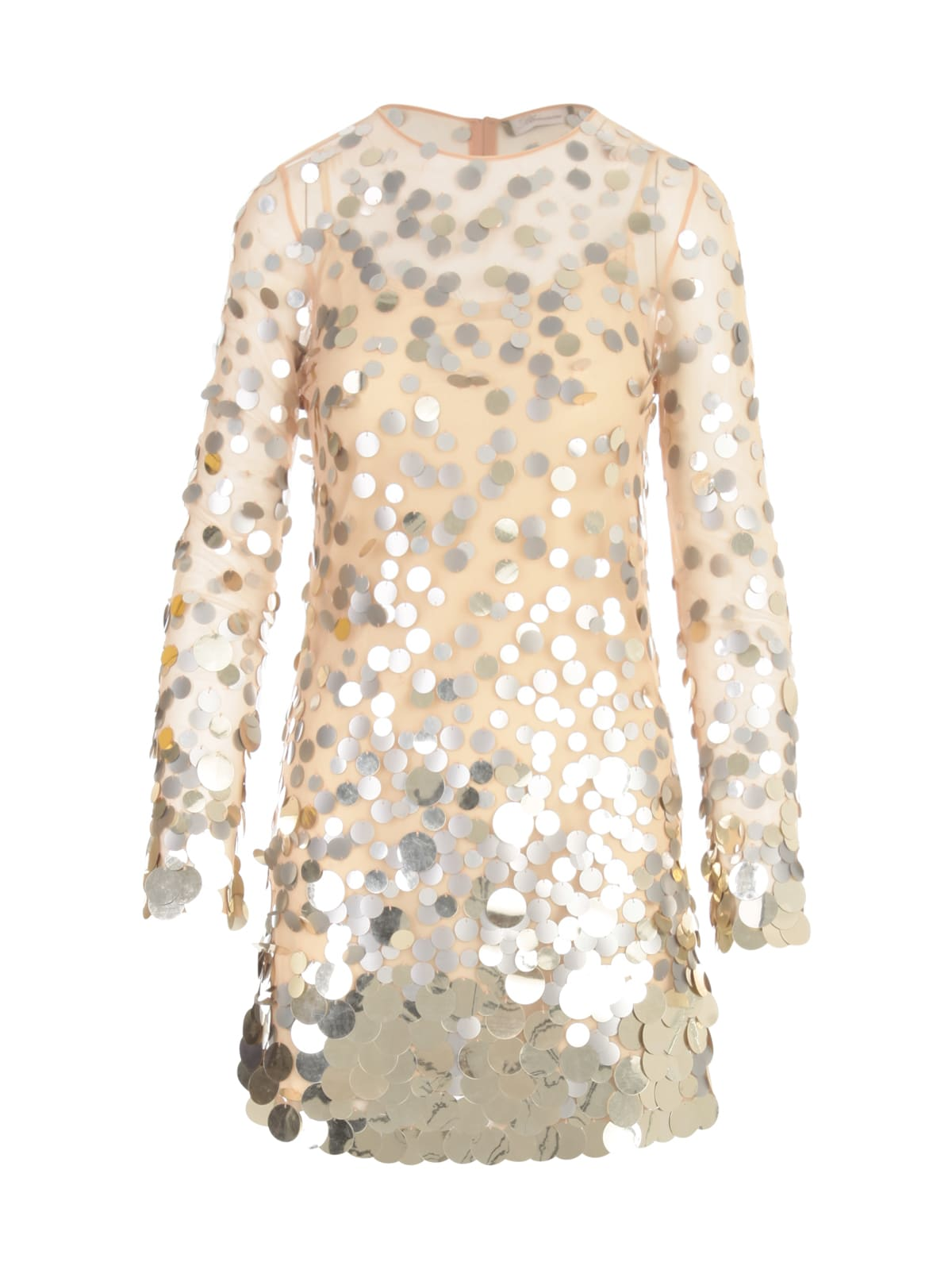 Buy Blumarine Embroidered Paillettes L/s Mini Dress online, shop Blumarine with free shipping