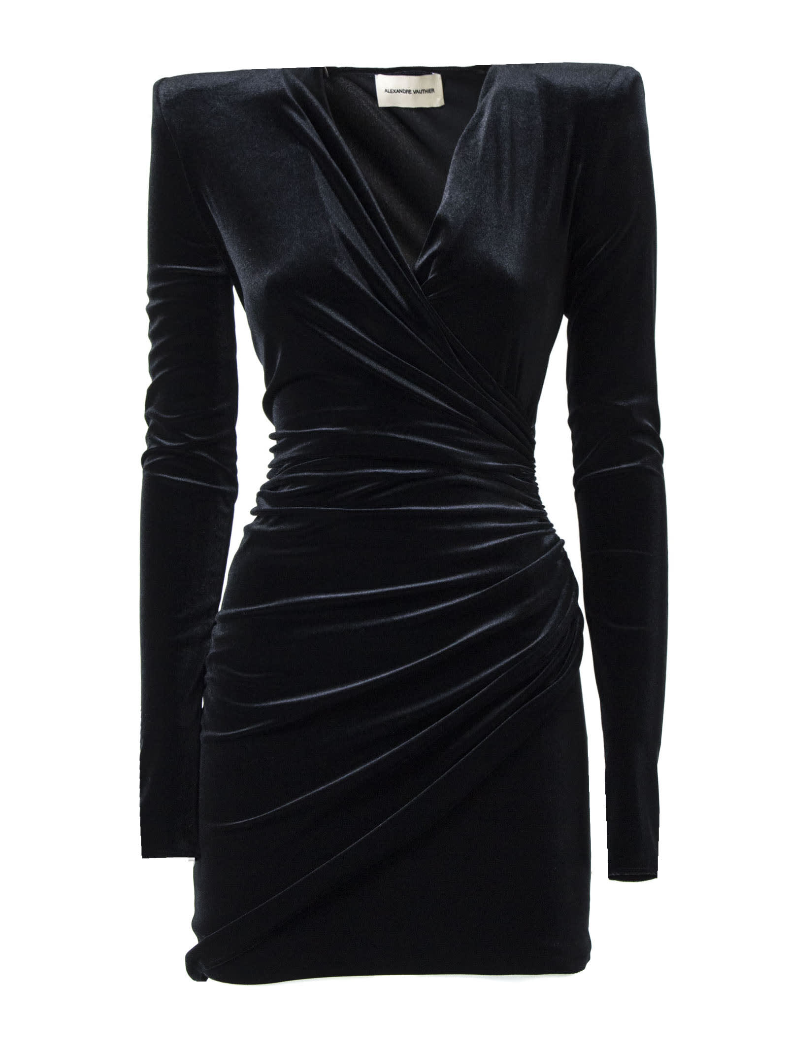Alexandre Vauthier Black Velvet Dress