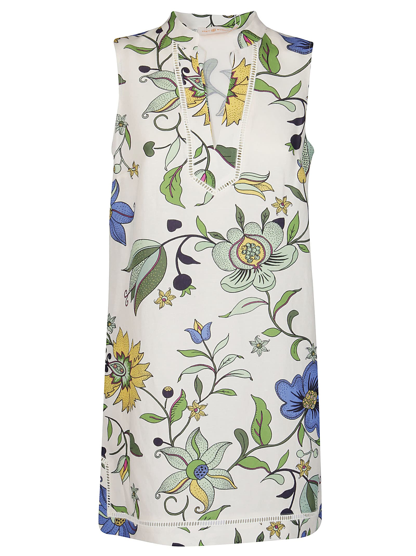 Buy Tory Burch Floral Print Mini Dress online, shop Tory Burch with free shipping