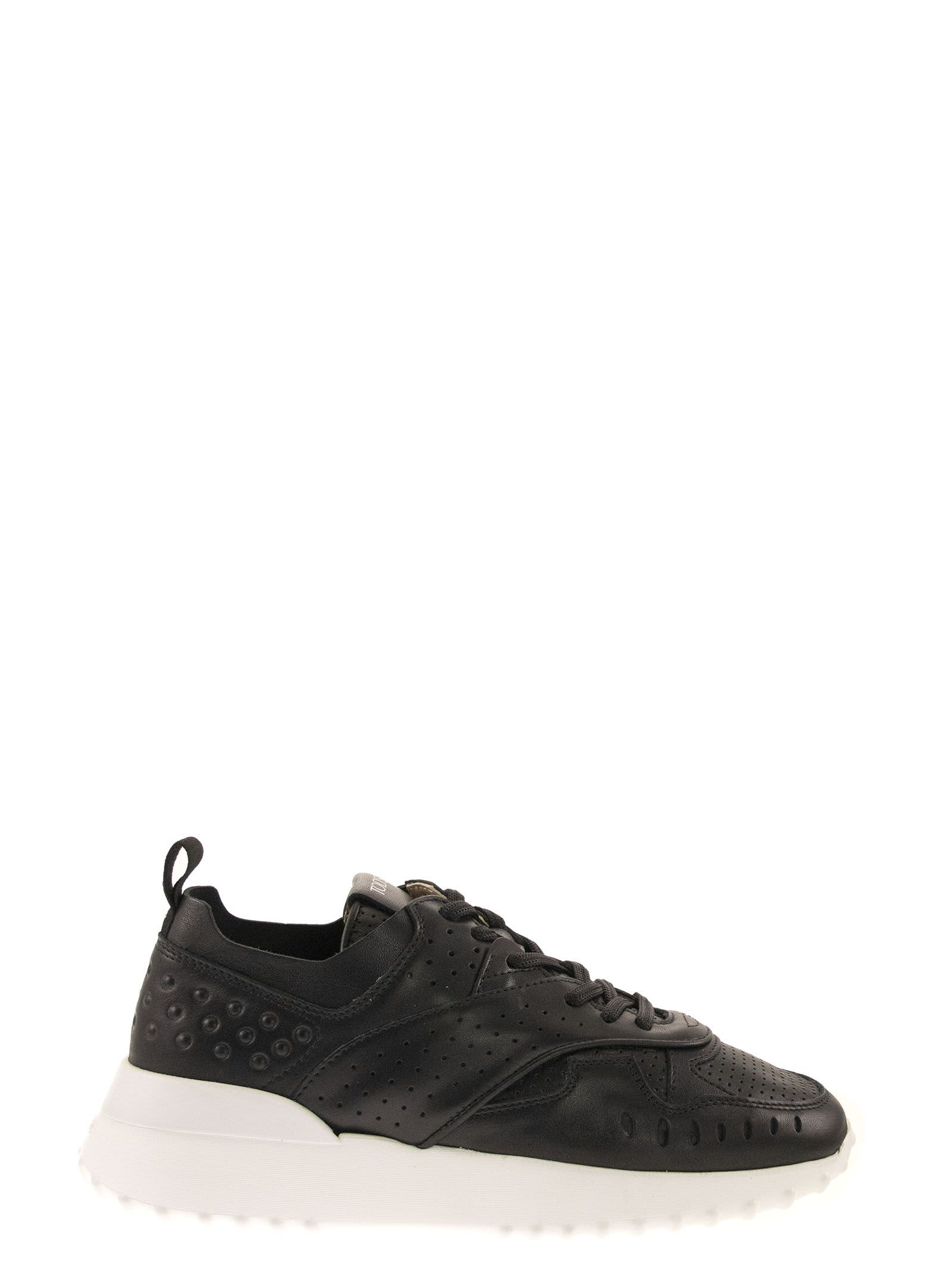 Tods Leather Sneaker - Black