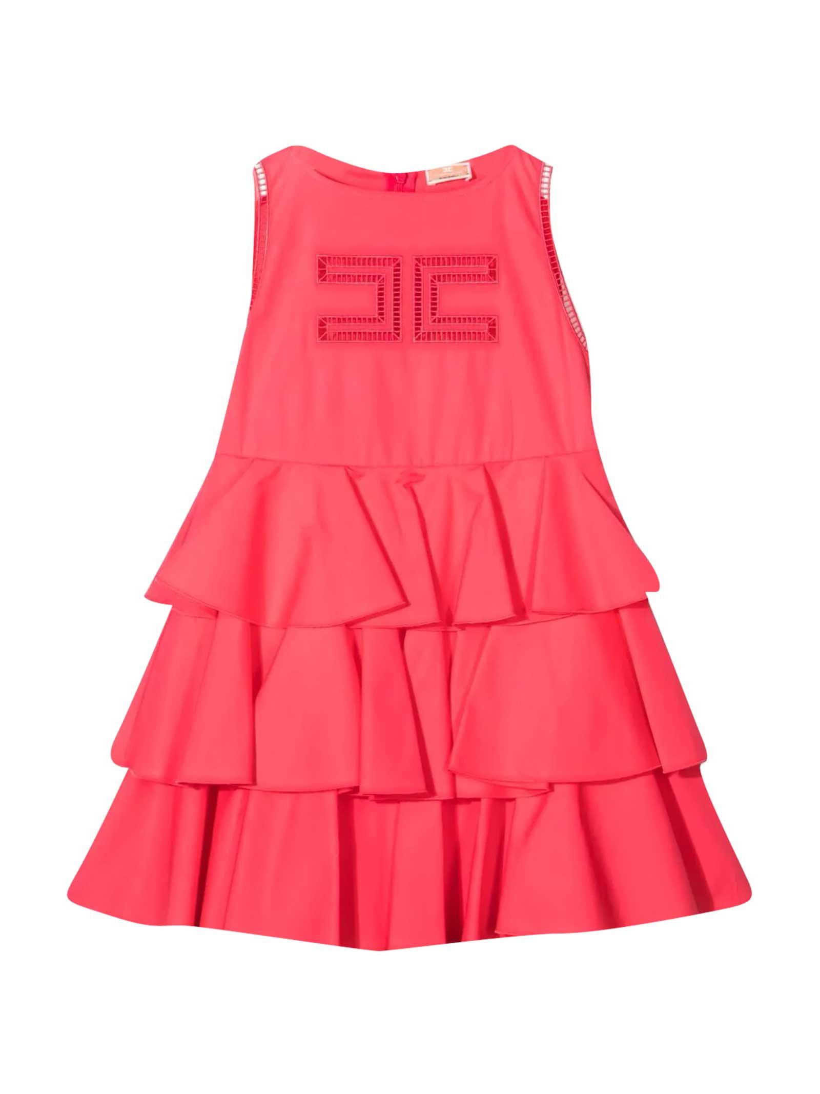 Buy Elisabetta Franchi La Mia Bambina Dress With Elisabetta Franchi My Girl Logo online, shop Elisabetta Franchi La Mia Bambina with free shipping
