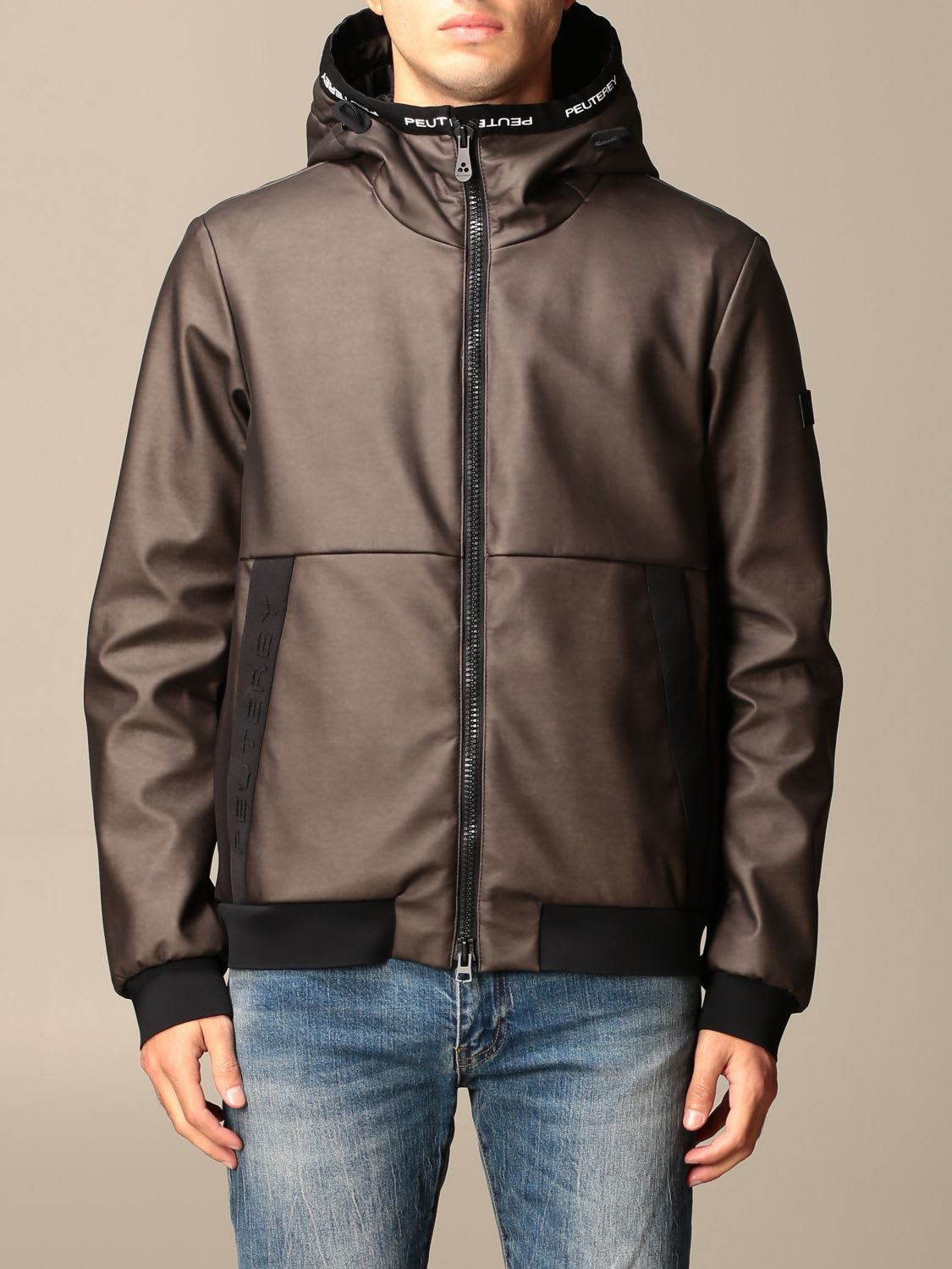 Peuterey Jacket Beckci Peuterey Bomber In Coated Technical Fabric