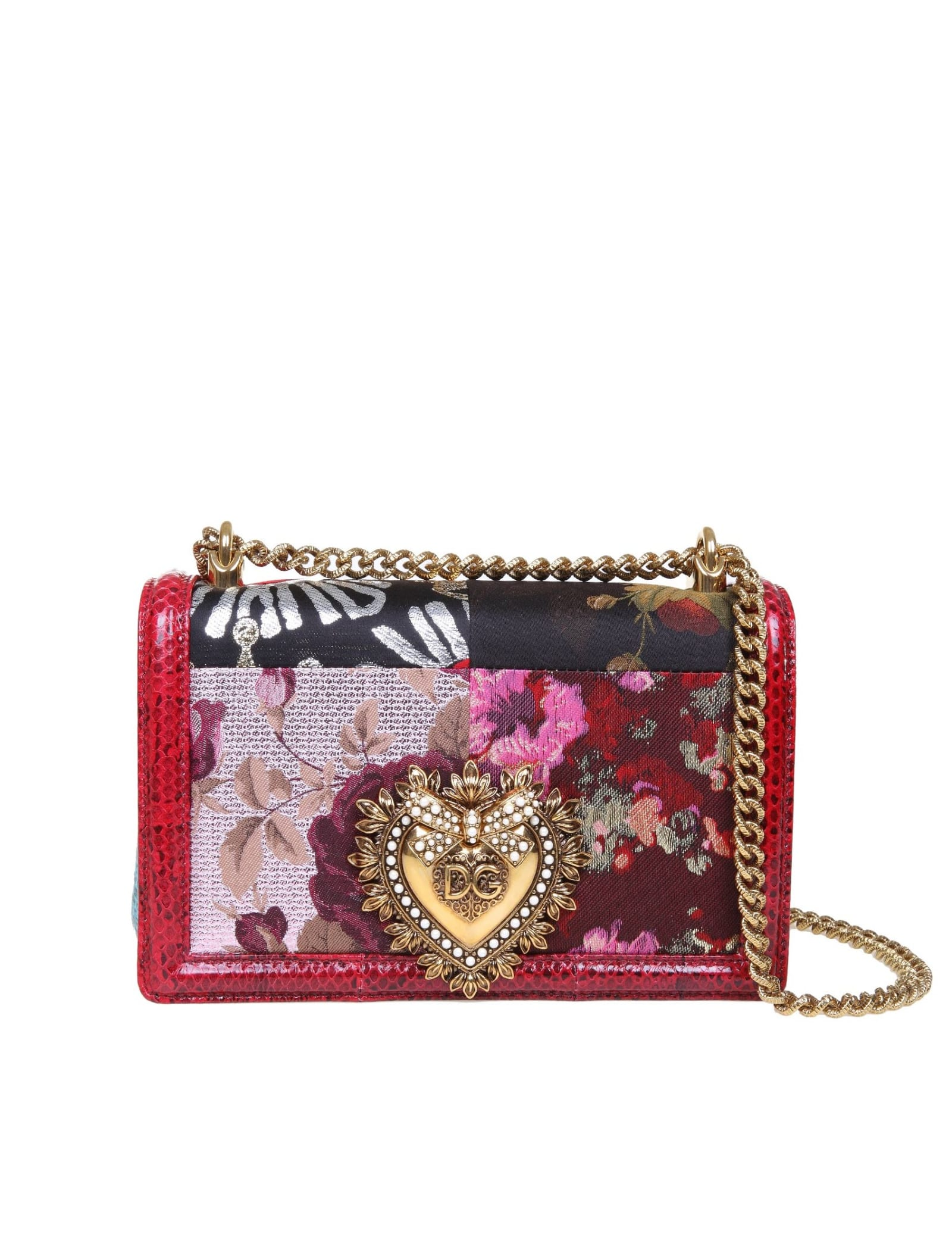 Dolce & Gabbana MEDIUM DEVOTION BAG IN AND FABRIC