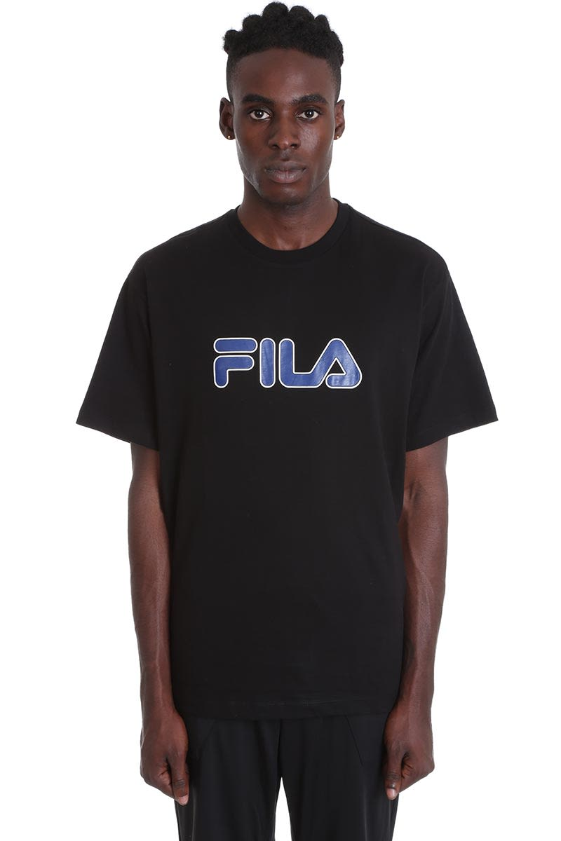 Fila T-shirts USHER TEE T-SHIRT IN BLACK COTTON