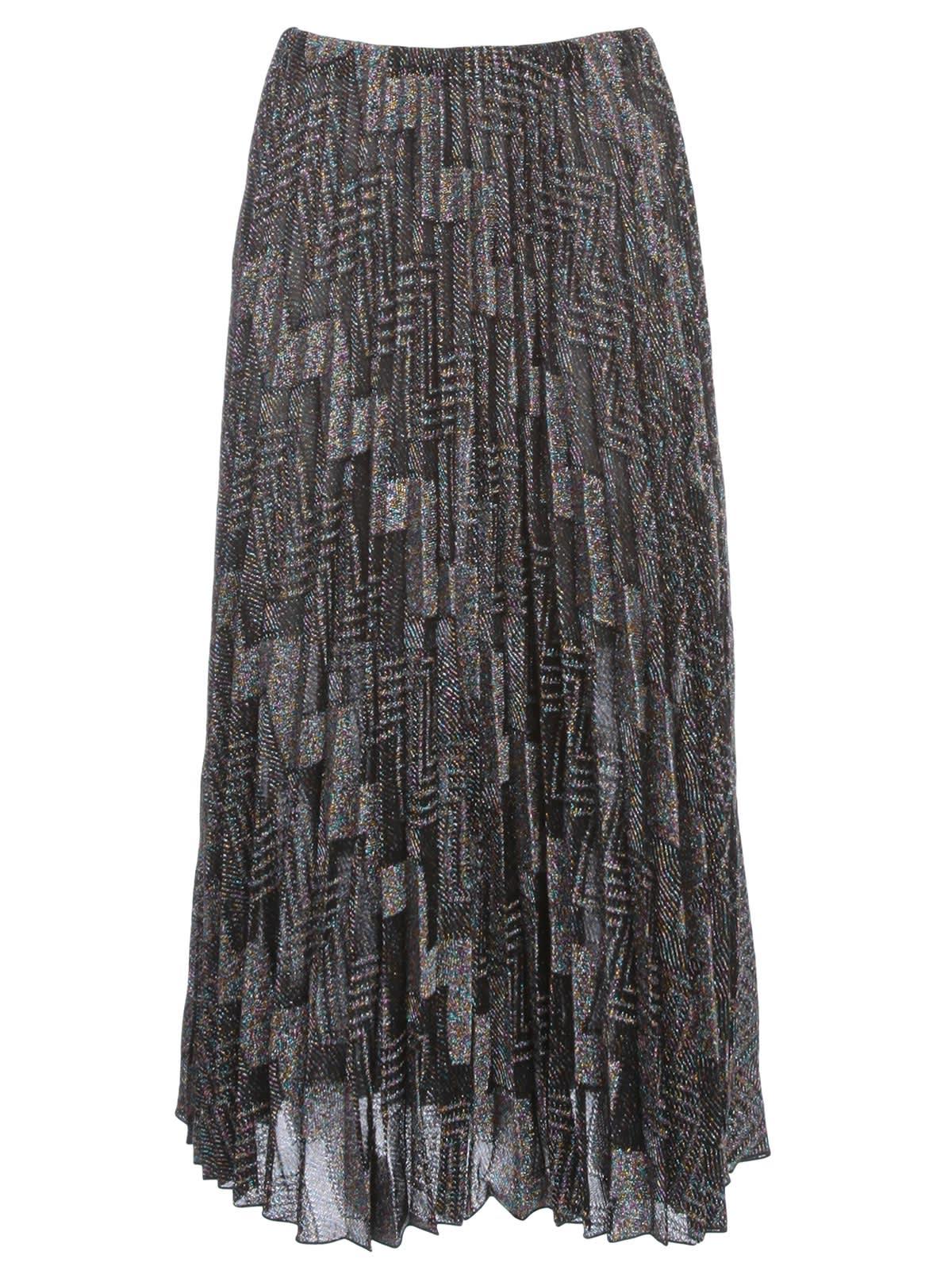 M Missoni Skirt Pleated Zig Zag Lurex