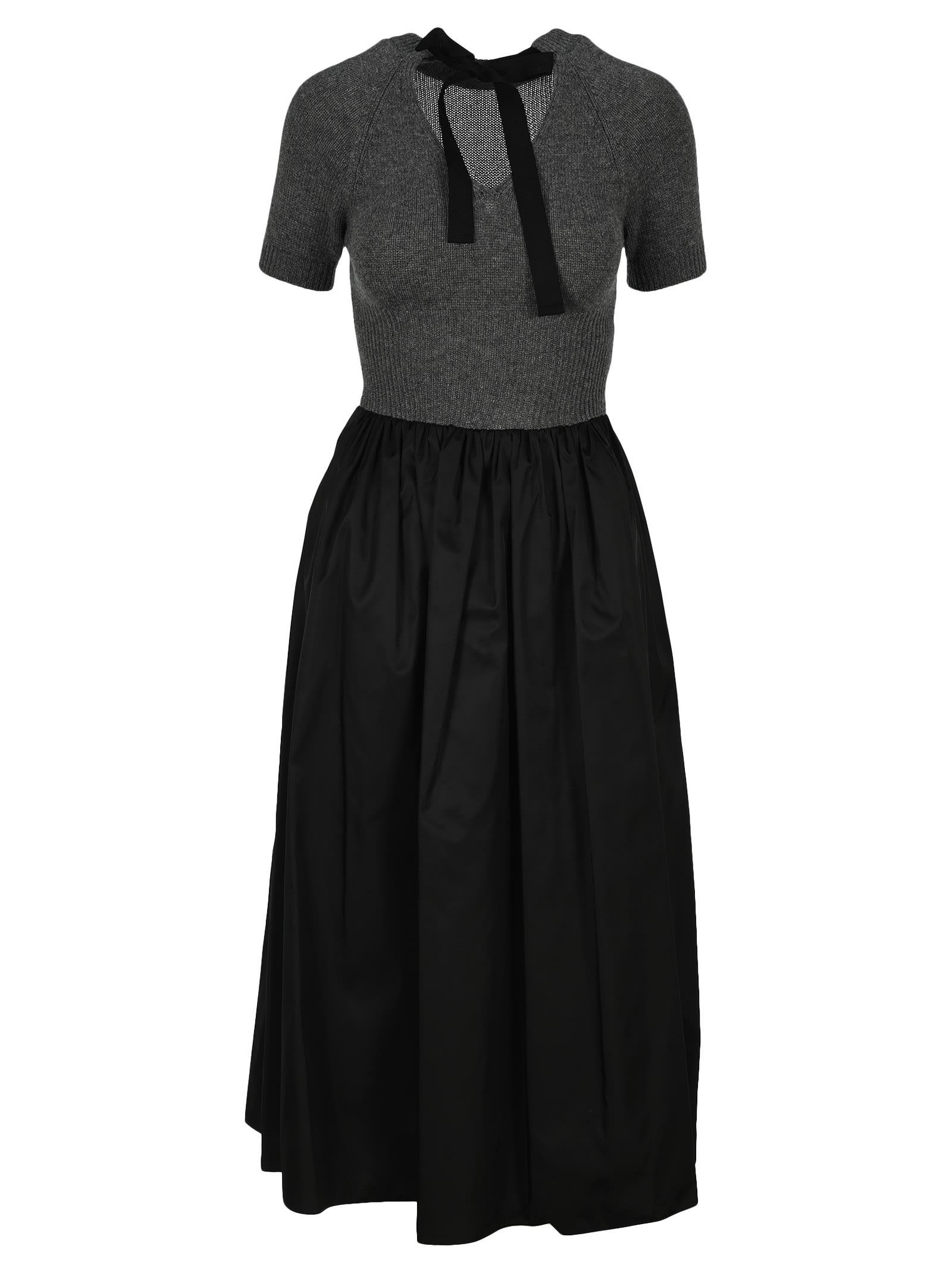 Buy Prada Pleted Midi Dress online, shop Prada with free shipping