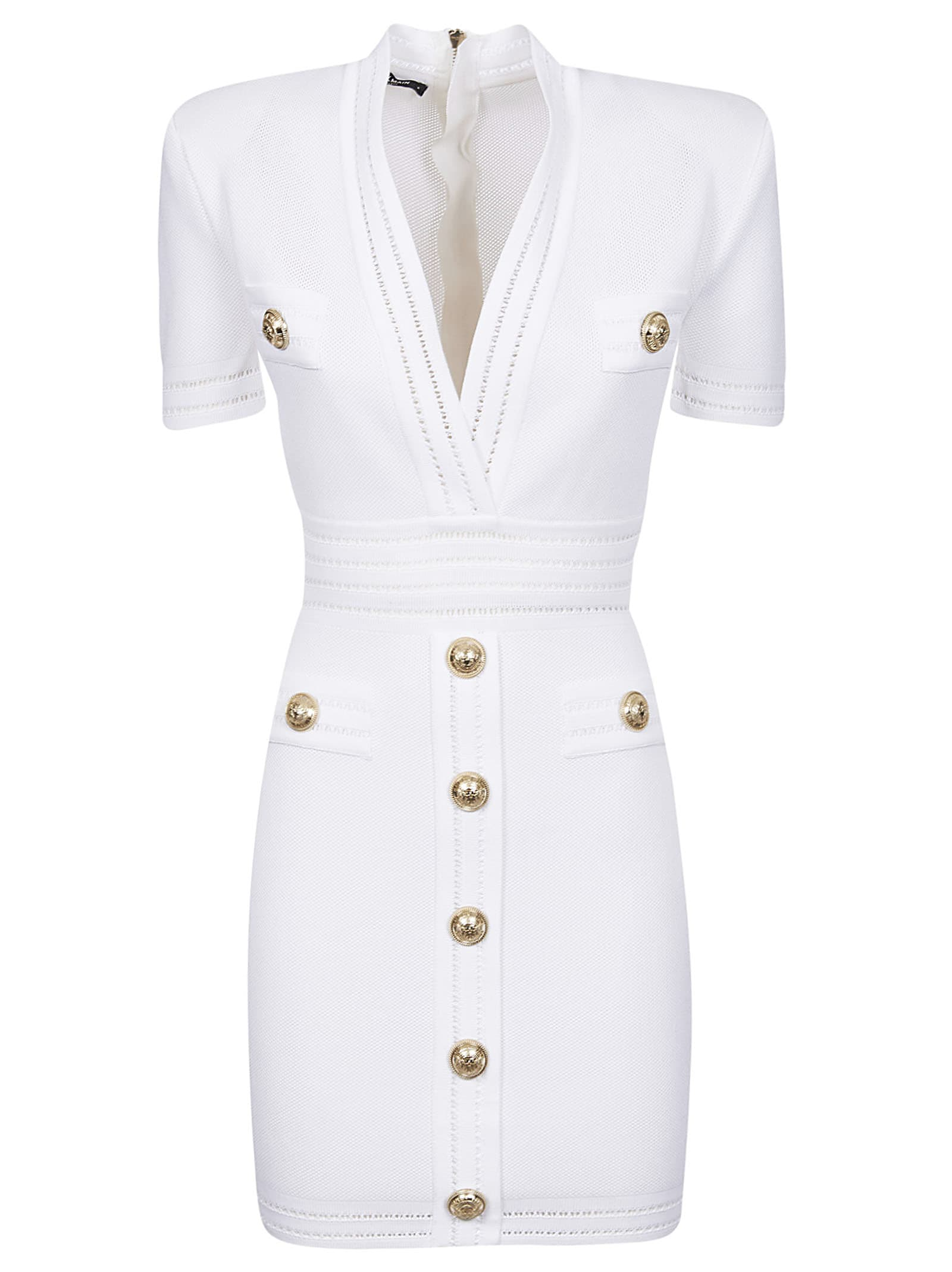 Buy Balmain Button-studded Dress online, shop Balmain with free shipping