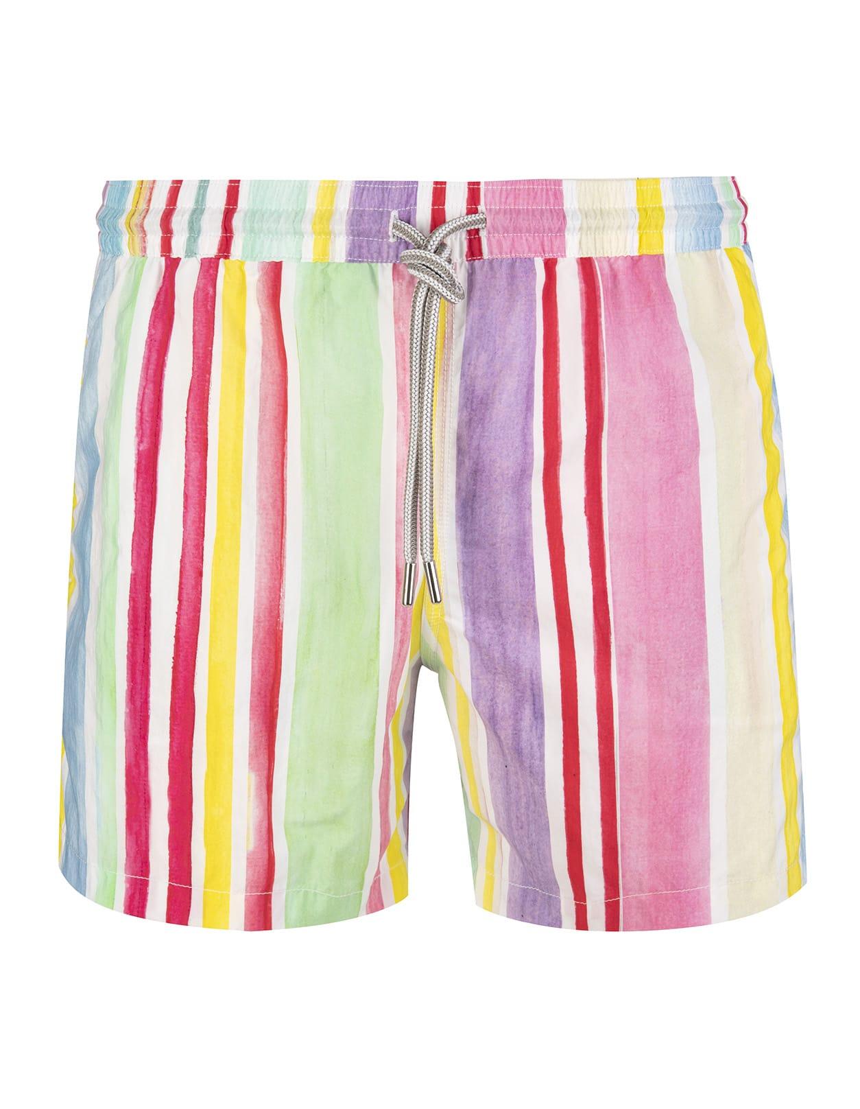 Pastel Striped Swimsuit