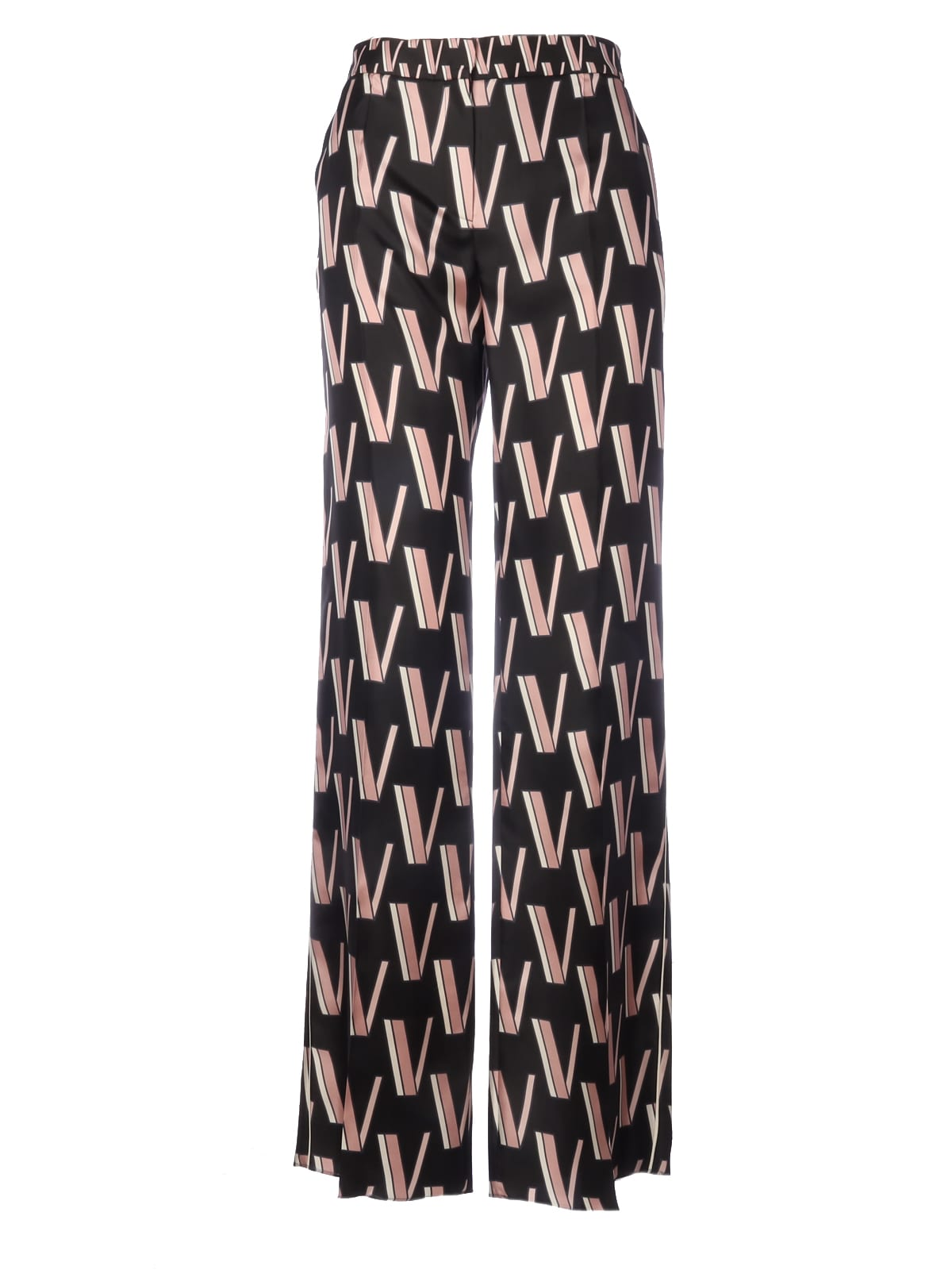 Valentino Wide Pants With V Fantasy