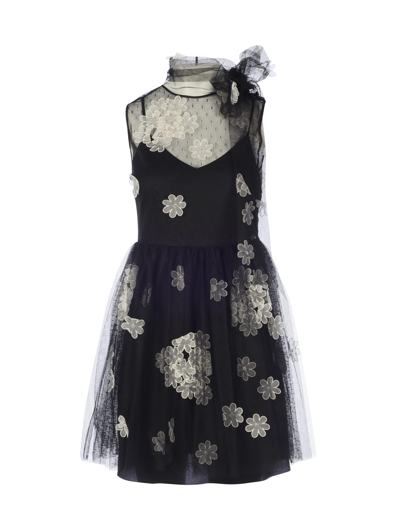 RED Valentino Tulle 3d Flowers Fantasy
