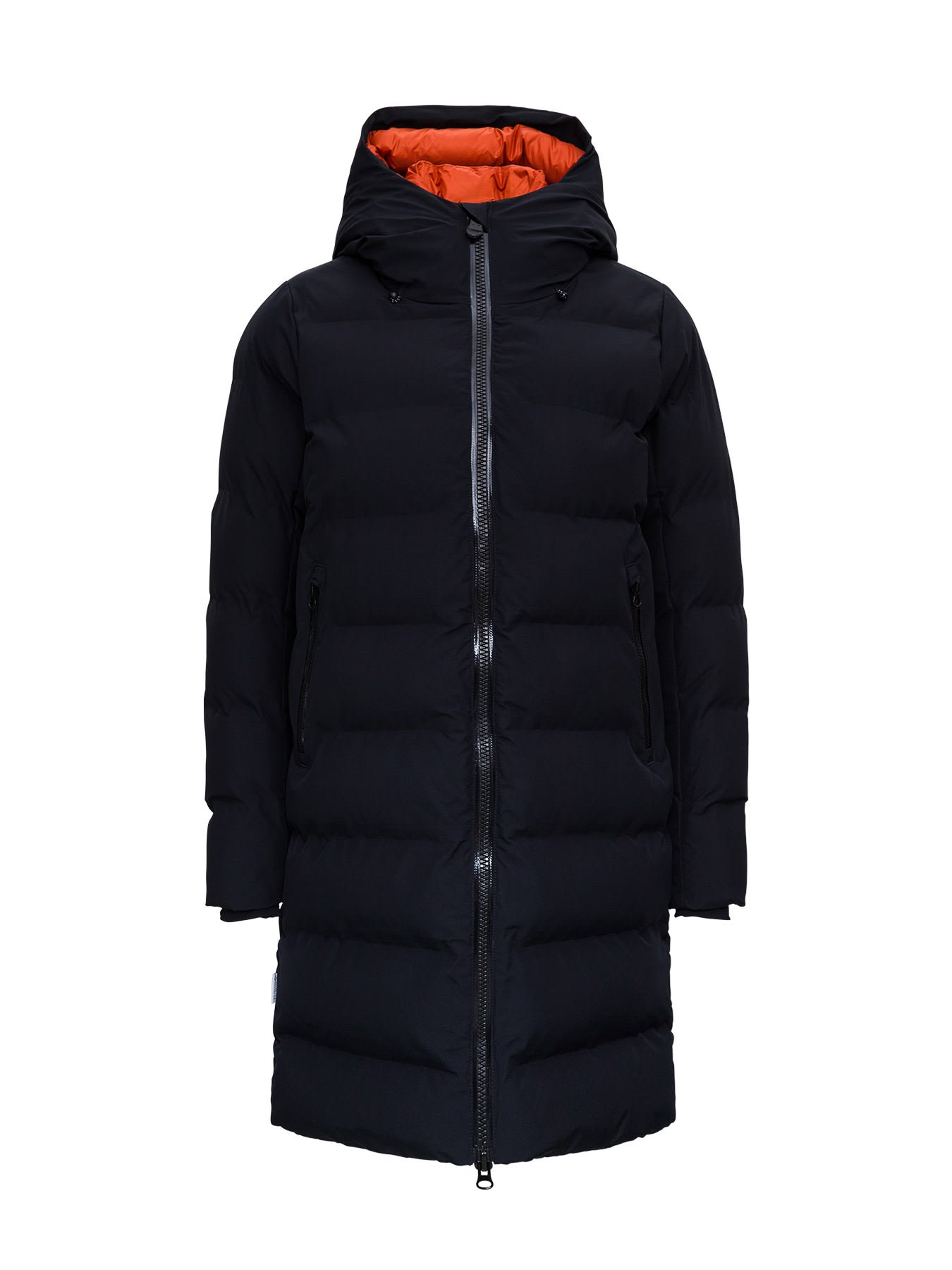 Save The Duck Downs LONG AND HOODED DOWN JACKET WITH ECOLOGICAL PADDING
