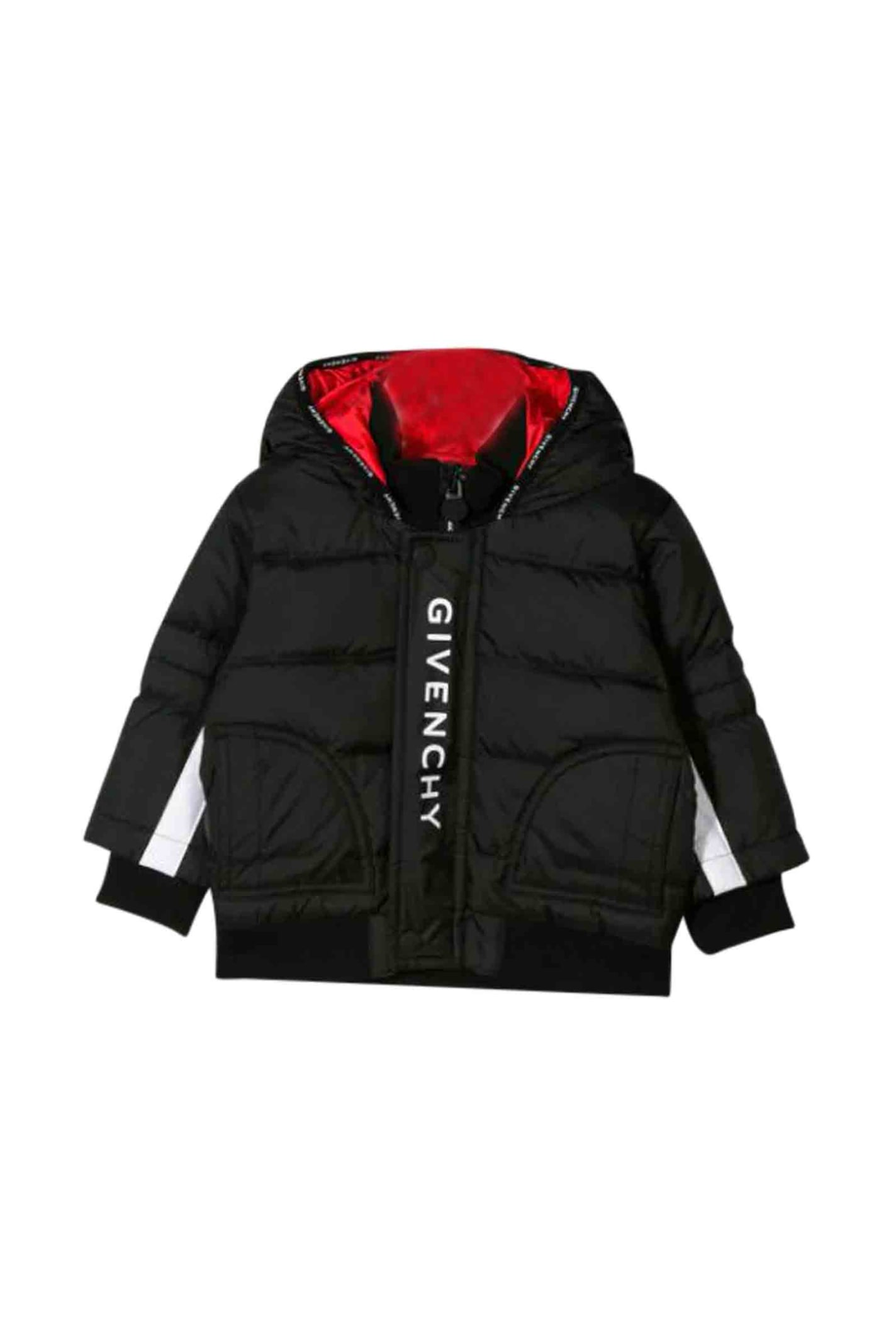 Givenchy Babies' Printed Padded Jacket In Nero