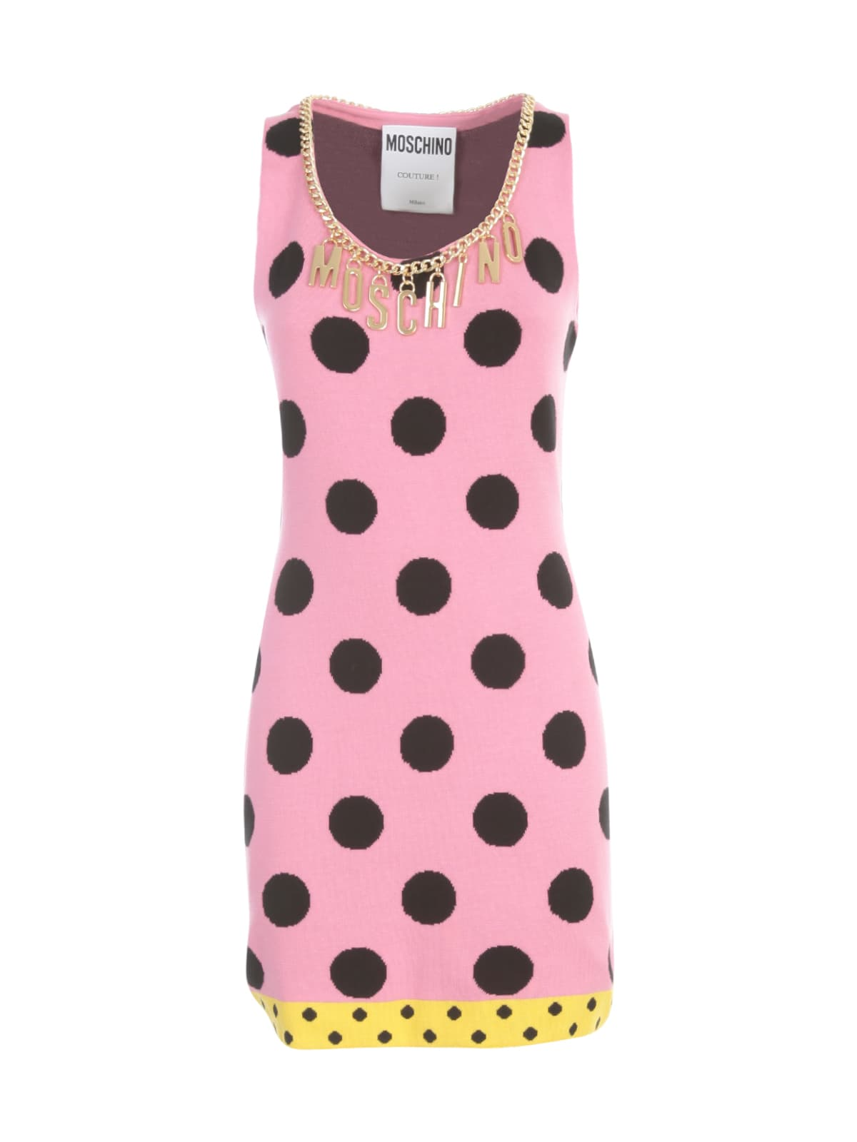 Buy Moschino Crew Neck Sleeveless Dress online, shop Moschino with free shipping