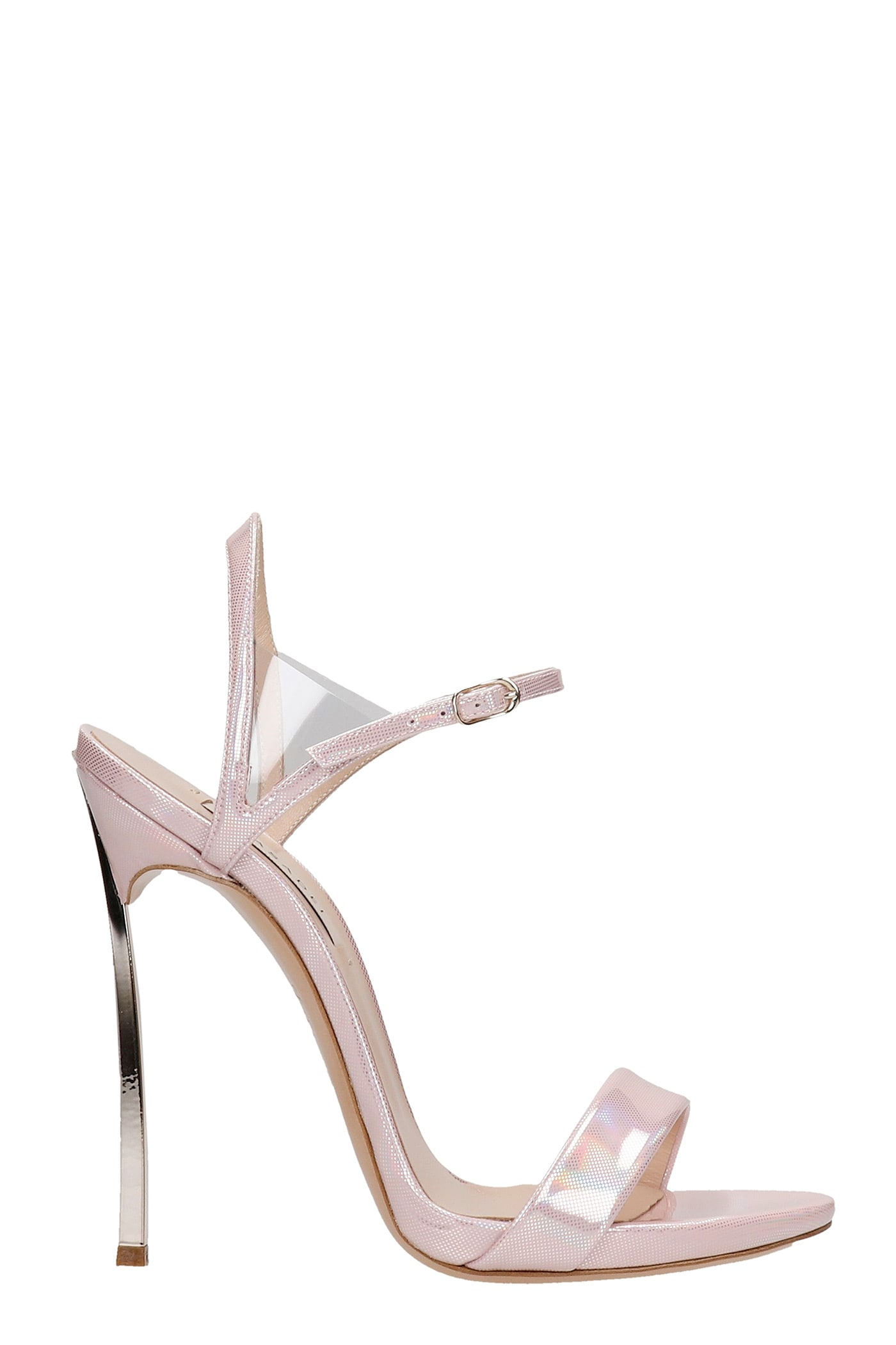 Casadei Leathers SANDALS IN ROSE-PINK LEATHER