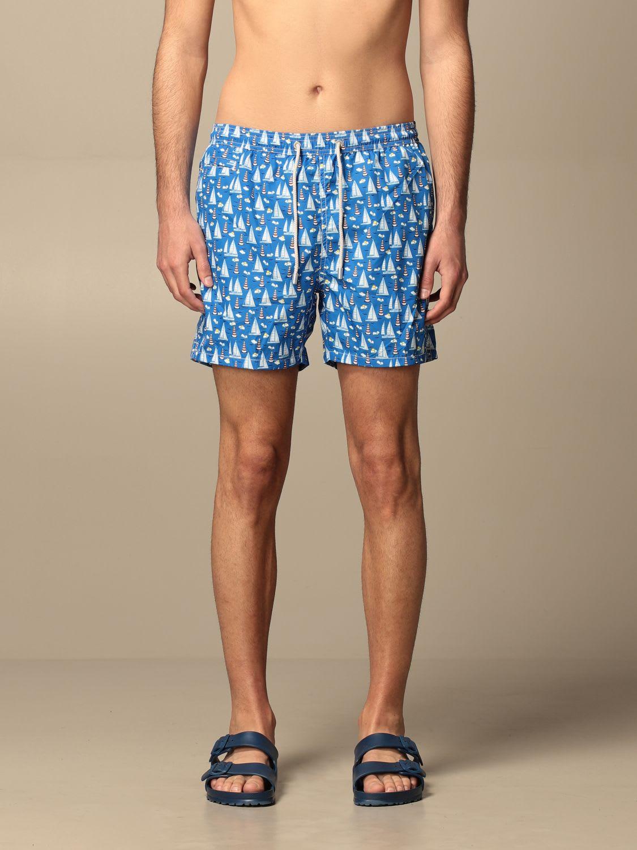 Mc2 Saint Barth Swimsuit Swimsuit Men  In Gnawed Blue