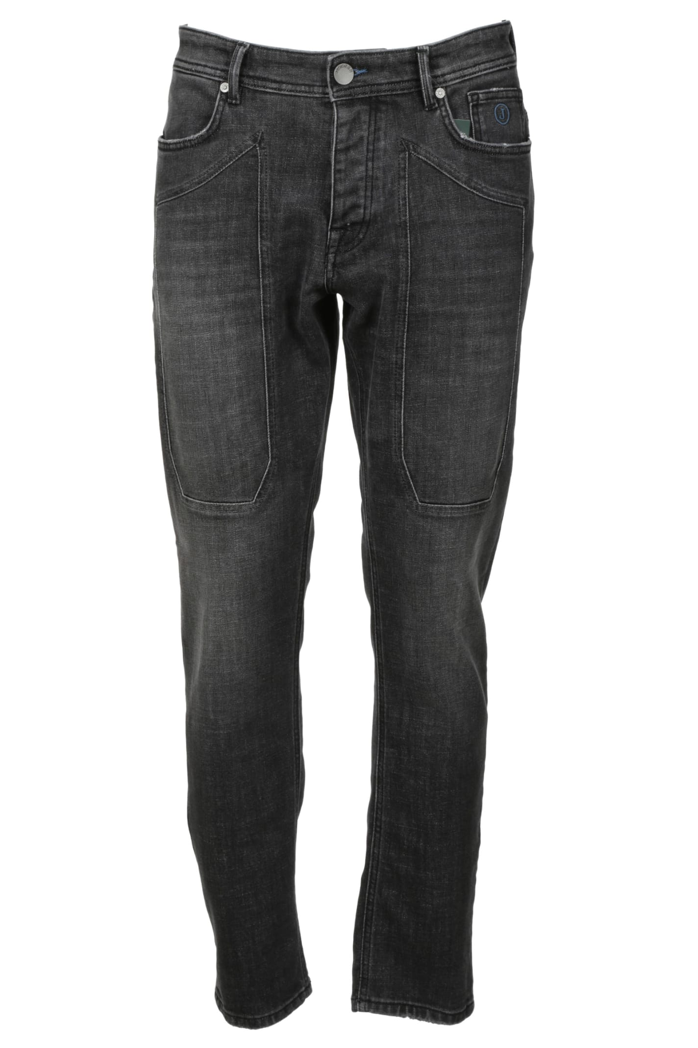 5 Pockets Patch Tapered Jeans