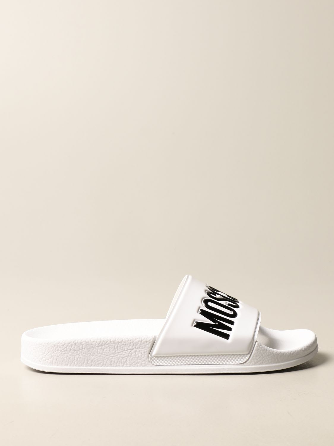Moschino Couture Flat Sandals Moschino Couture Rubber Sandal With Logo