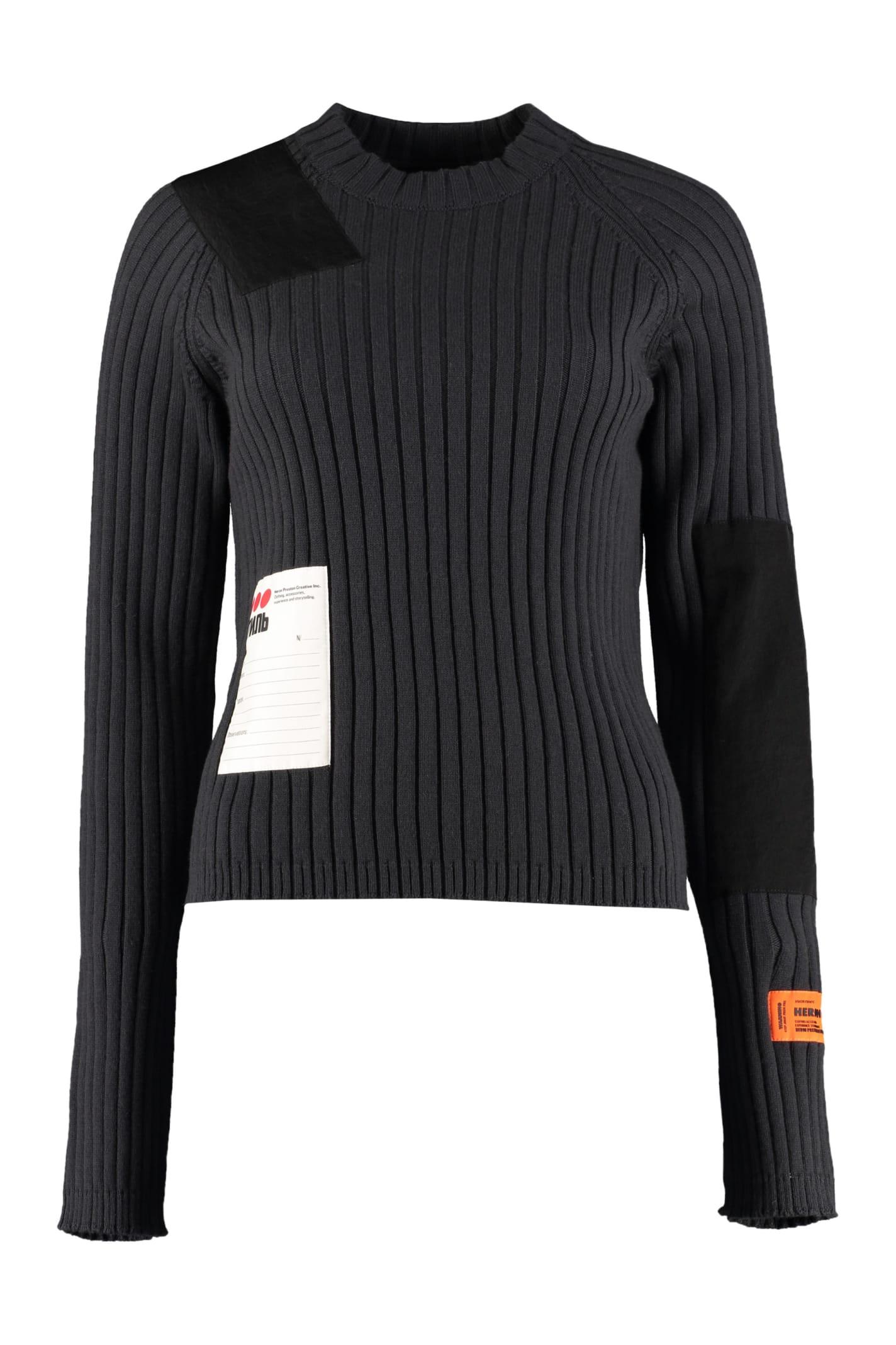 HERON PRESTON Ribbed Crew-neck Sweater