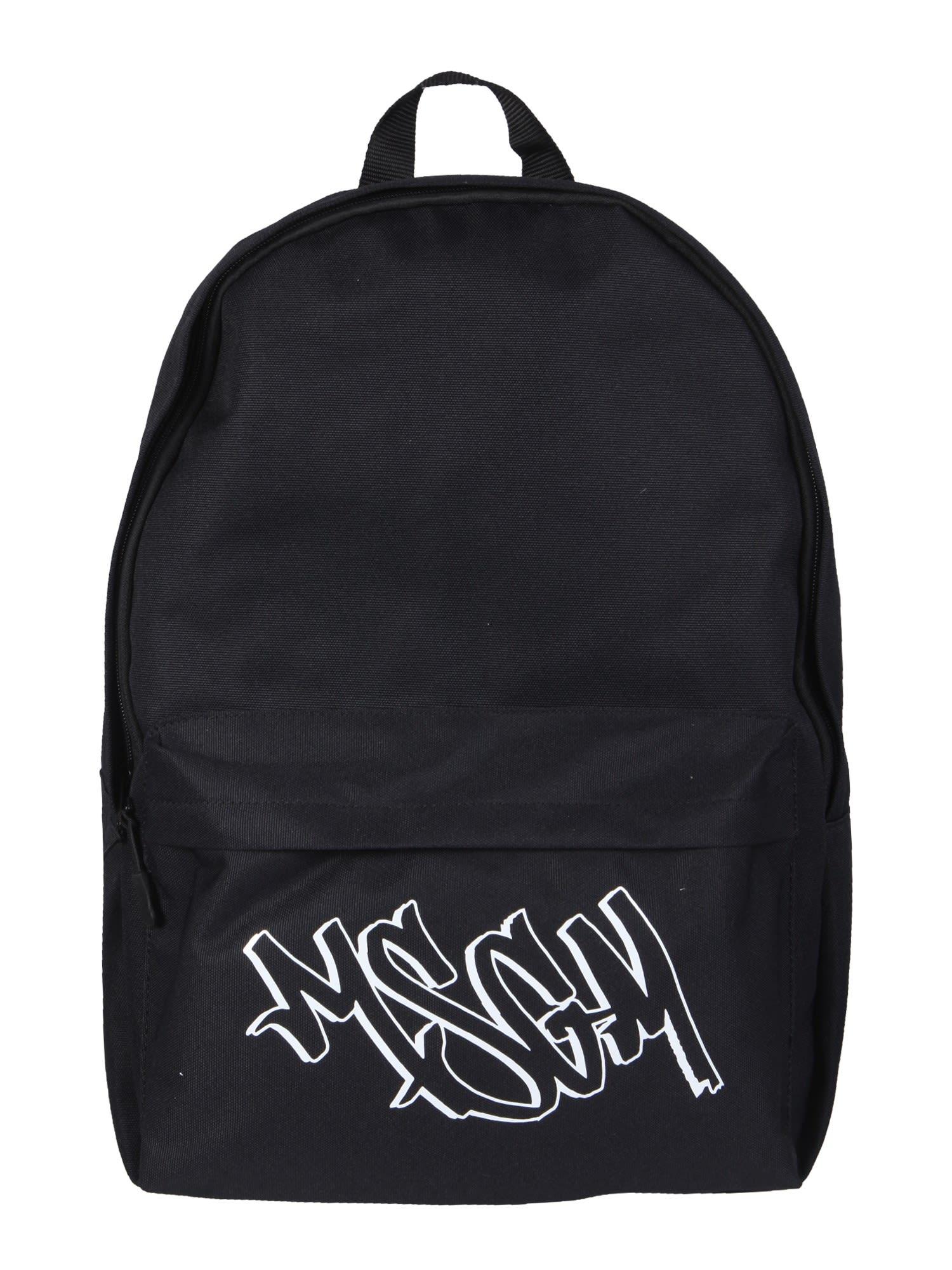 Msgm Backpacks BACKPACK WITH LOGO PRINT