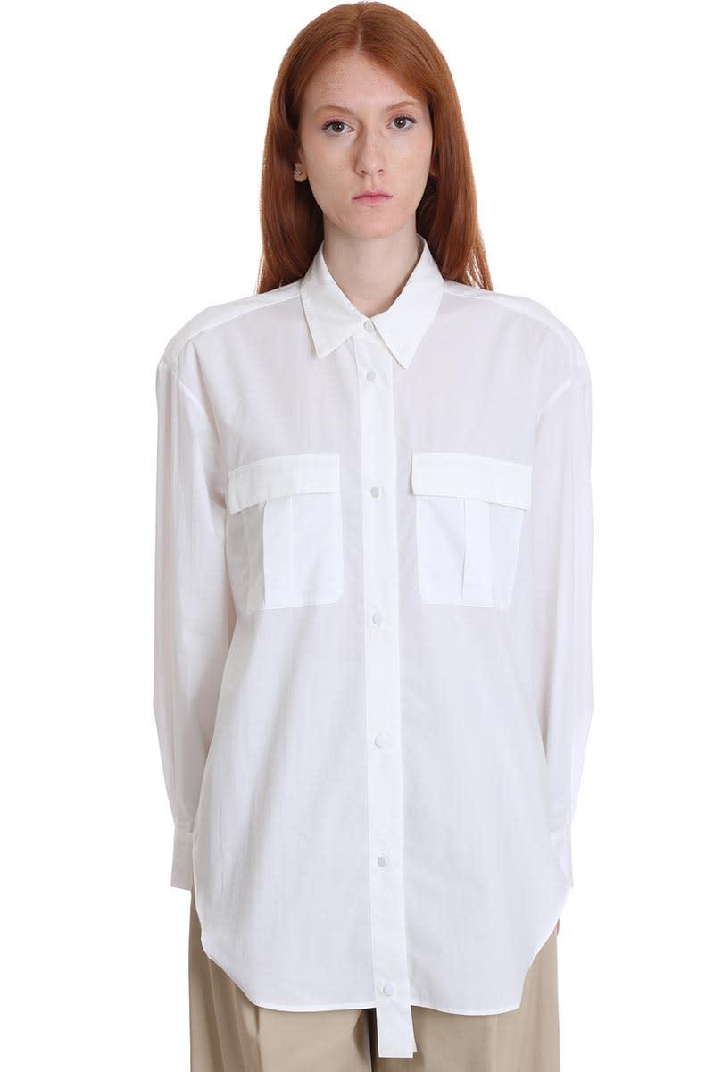 Maison Flaneur Shirt In White Cotton