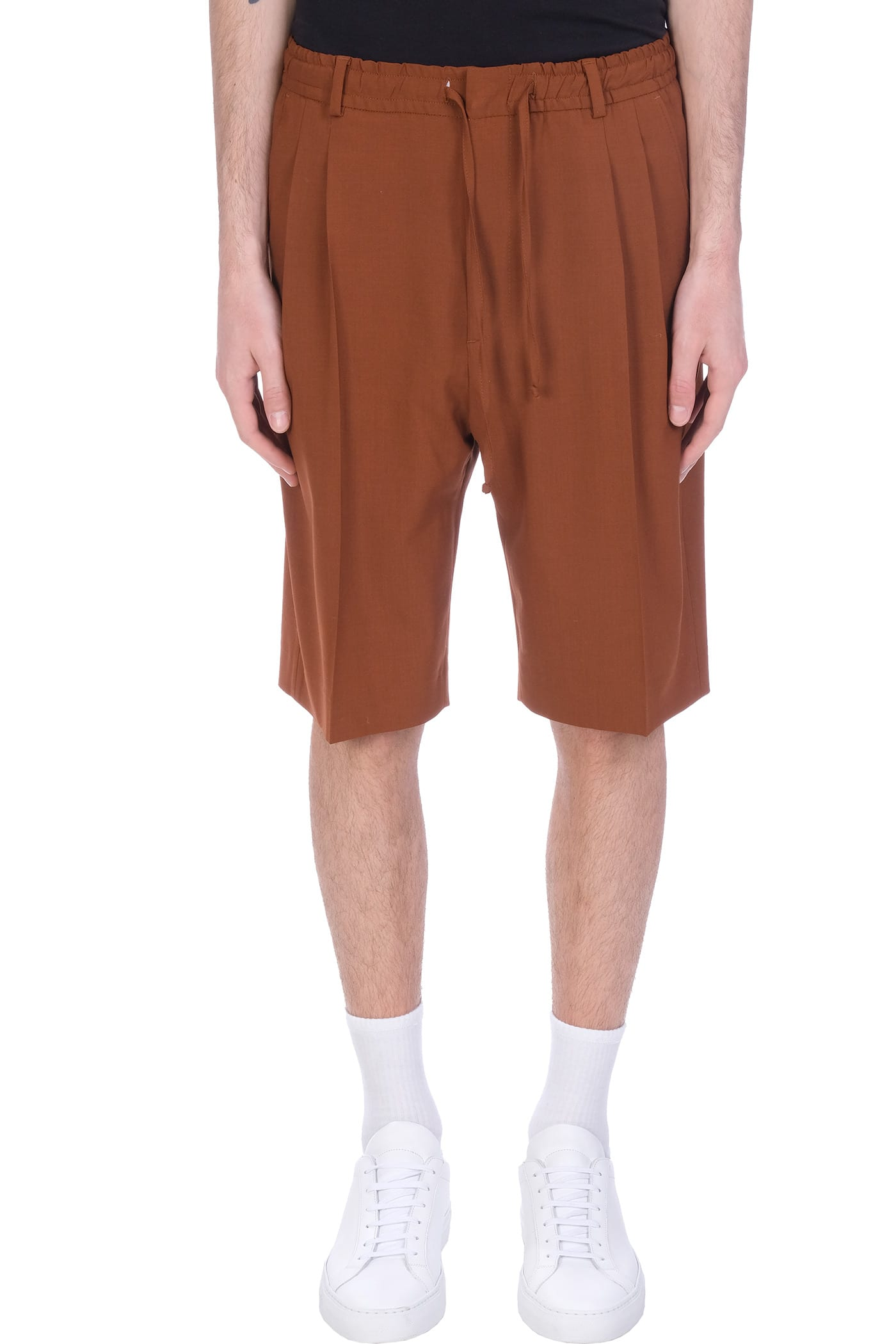Shorts In Brown Wool