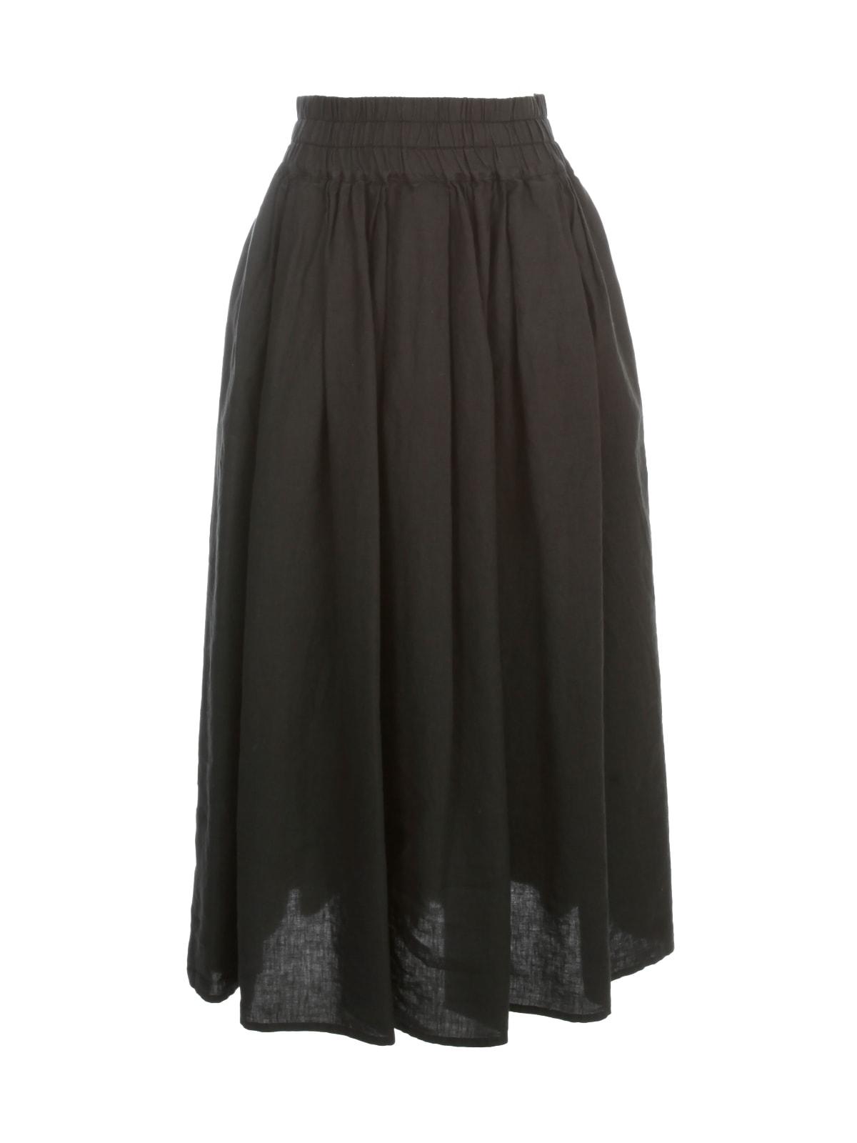Aspesi Long Elastic Waist Skirt In Black