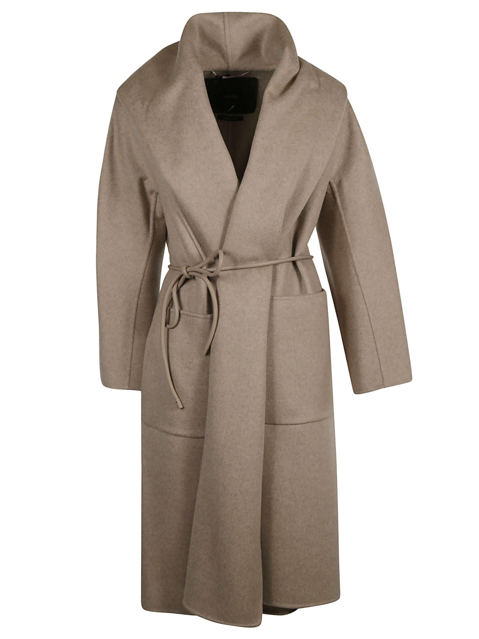 Max Mara Drawstring Tie Waist Wrapped Coat
