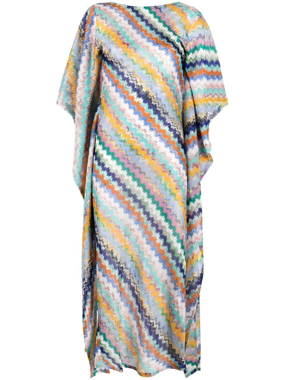 Missoni Multicolor Zig-zag Long Dress