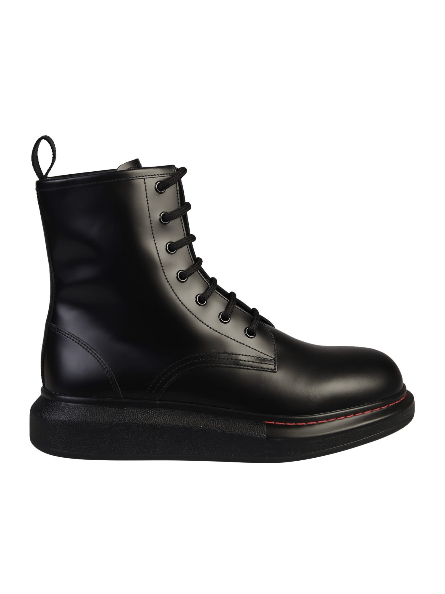 Buy Alexander McQueen Black Boots online, shop Alexander McQueen shoes with free shipping