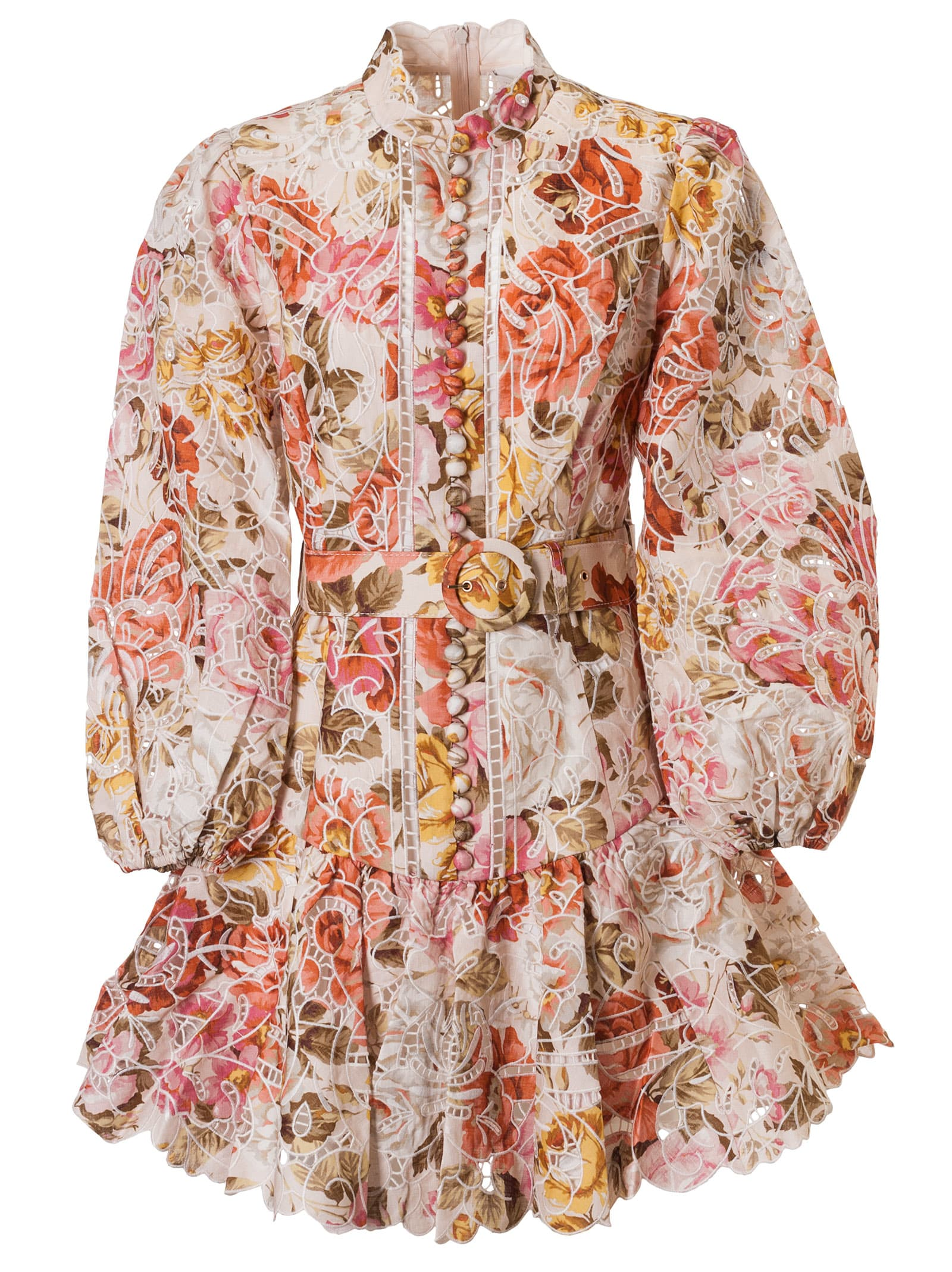 Buy Zimmermann All-over Floral Print Flared Dress online, shop Zimmermann with free shipping