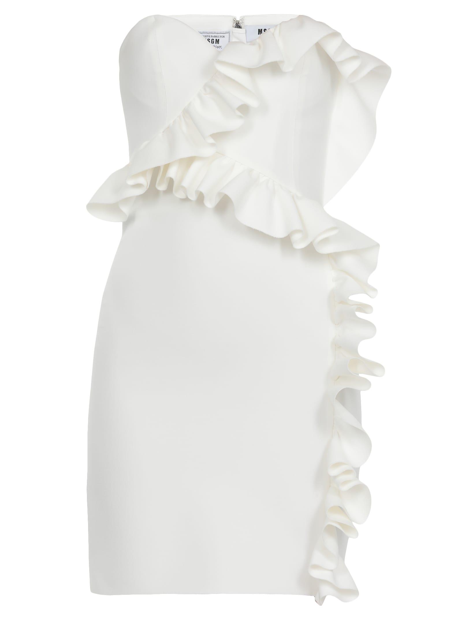 MSGM Dress With Frills
