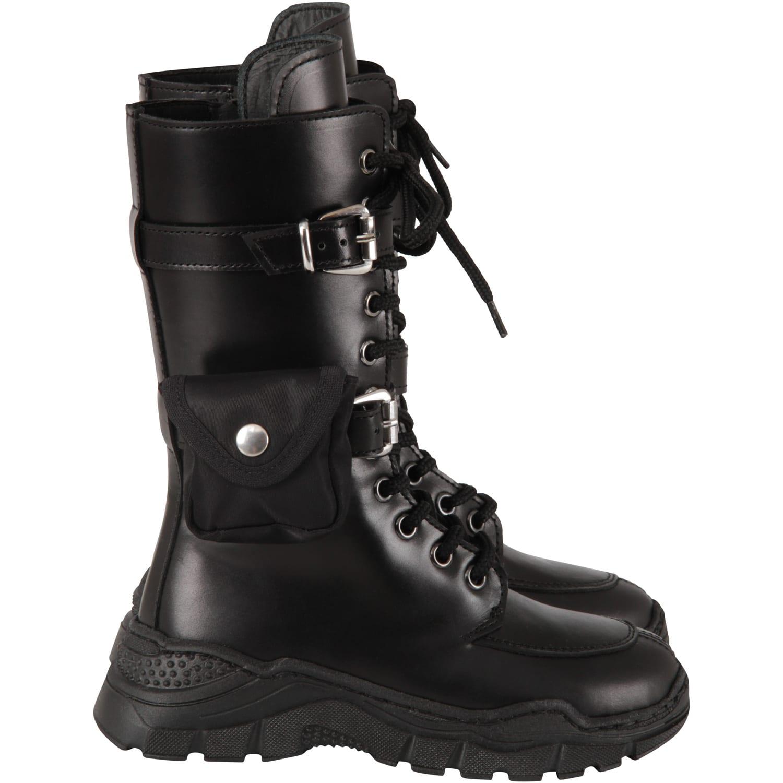 Black Amphibious Shoes For Girl